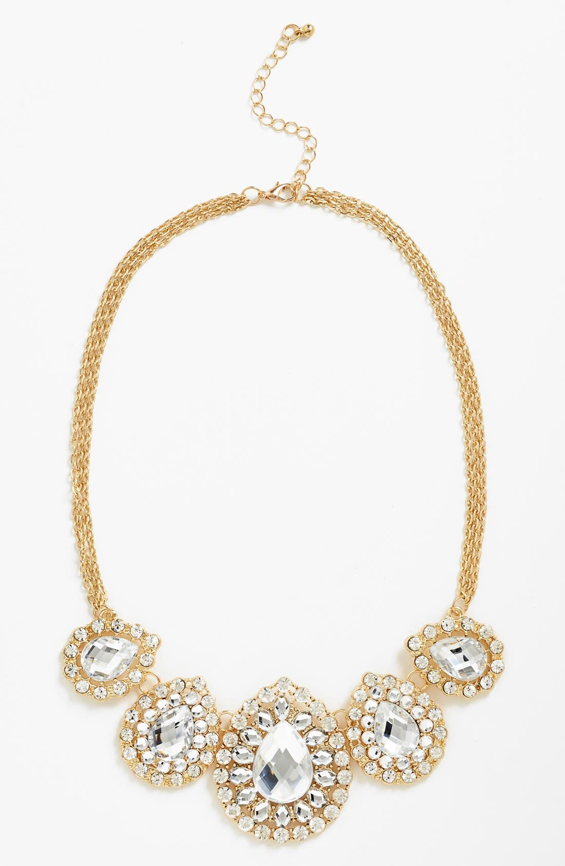 Main Image - BP. Teardrop Statement Necklace (Juniors) (Online Only)