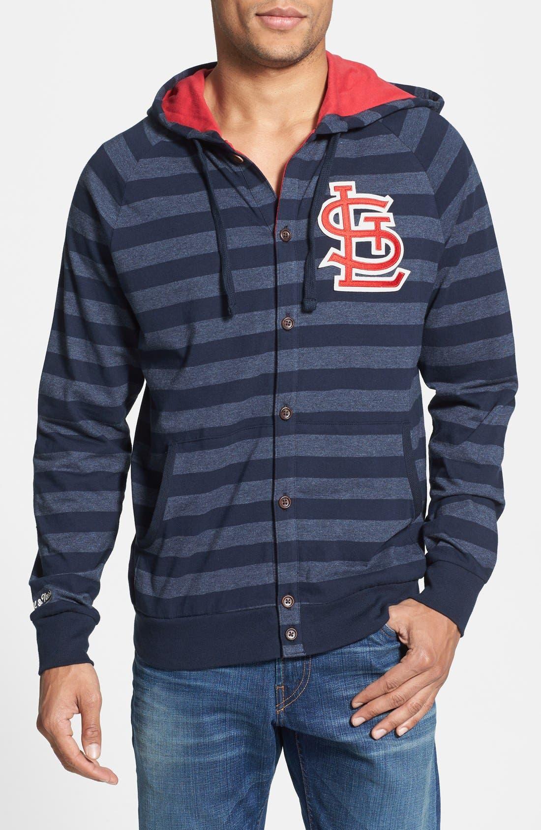 MITCHELL & NESS 'Cardinals' Stripe Button Front Jersey