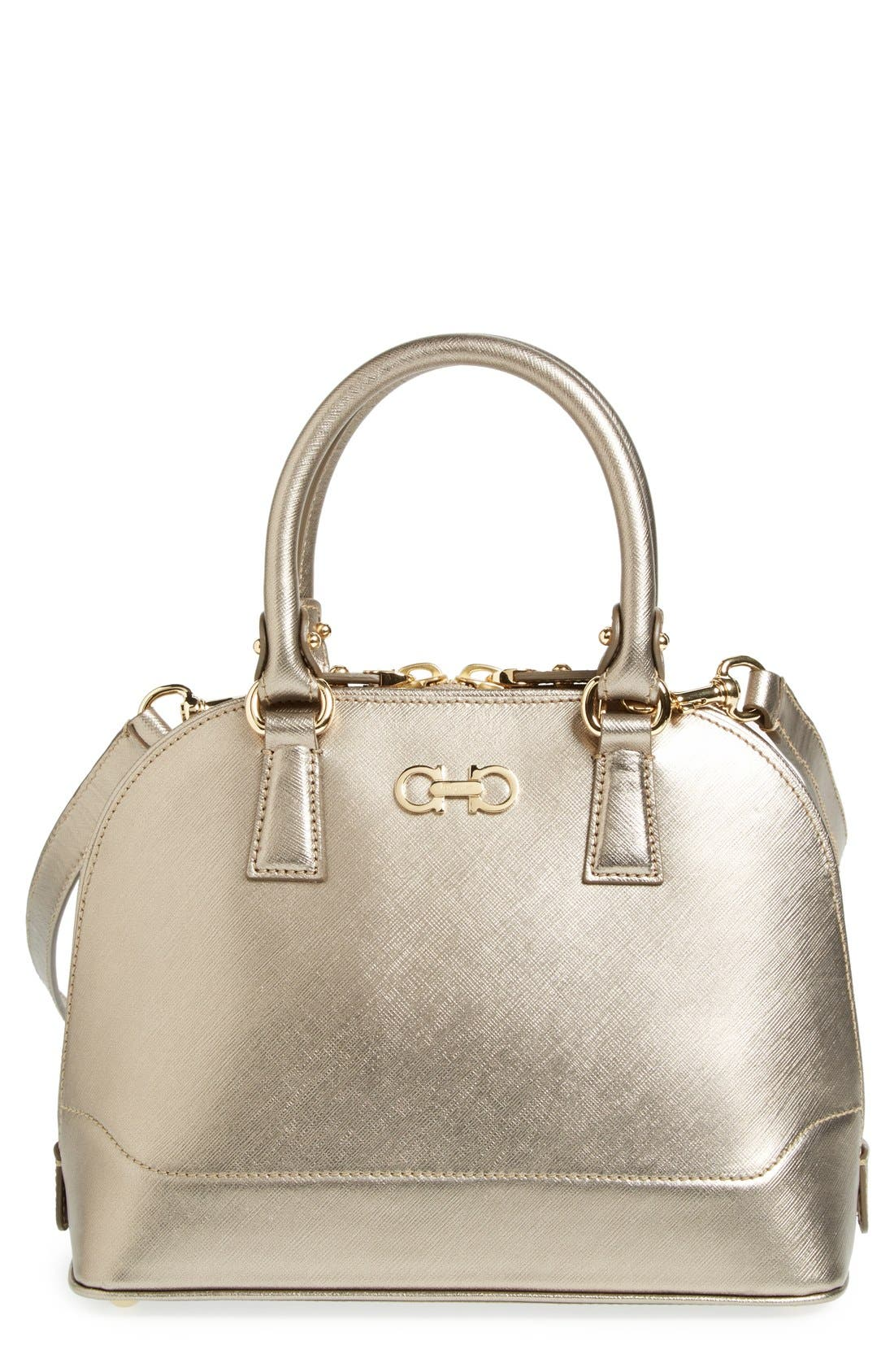 Alternate Image 1 Selected - Salvatore Ferragamo 'Mini Darina' Dome Satchel