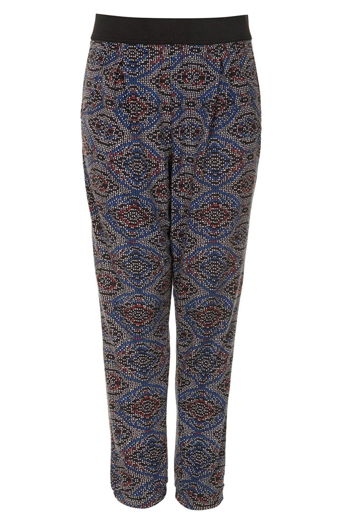 Alternate Image 3  - Topshop Tile Print Jersey Pants