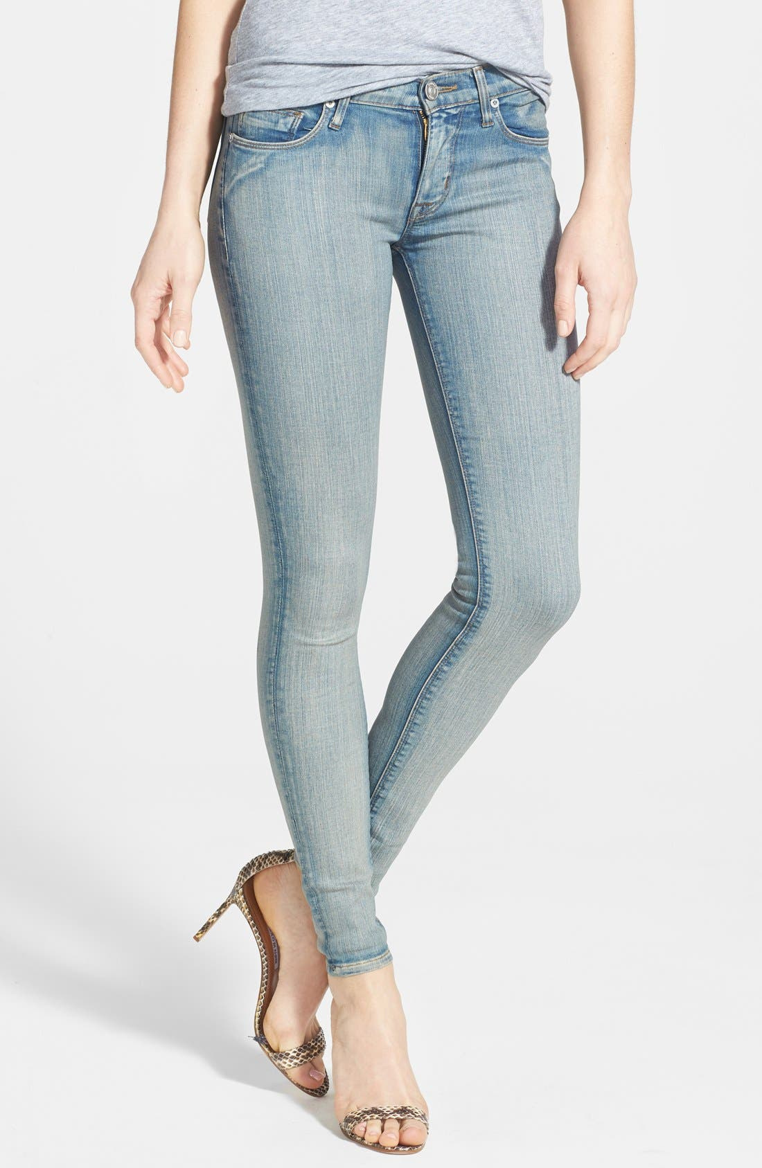 Main Image - Hudson Jeans 'Krista' Super Skinny Jeans (Castles of Sand)