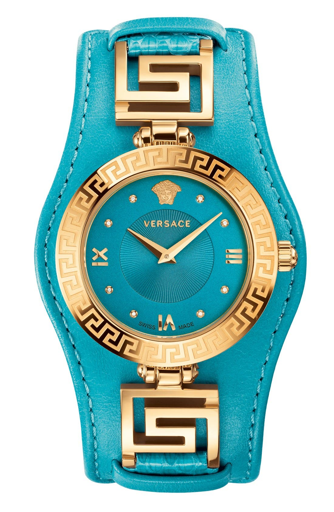 Alternate Image 1 Selected - Versace 'V-Signature' Convertible Leather Strap Watch, 35mm