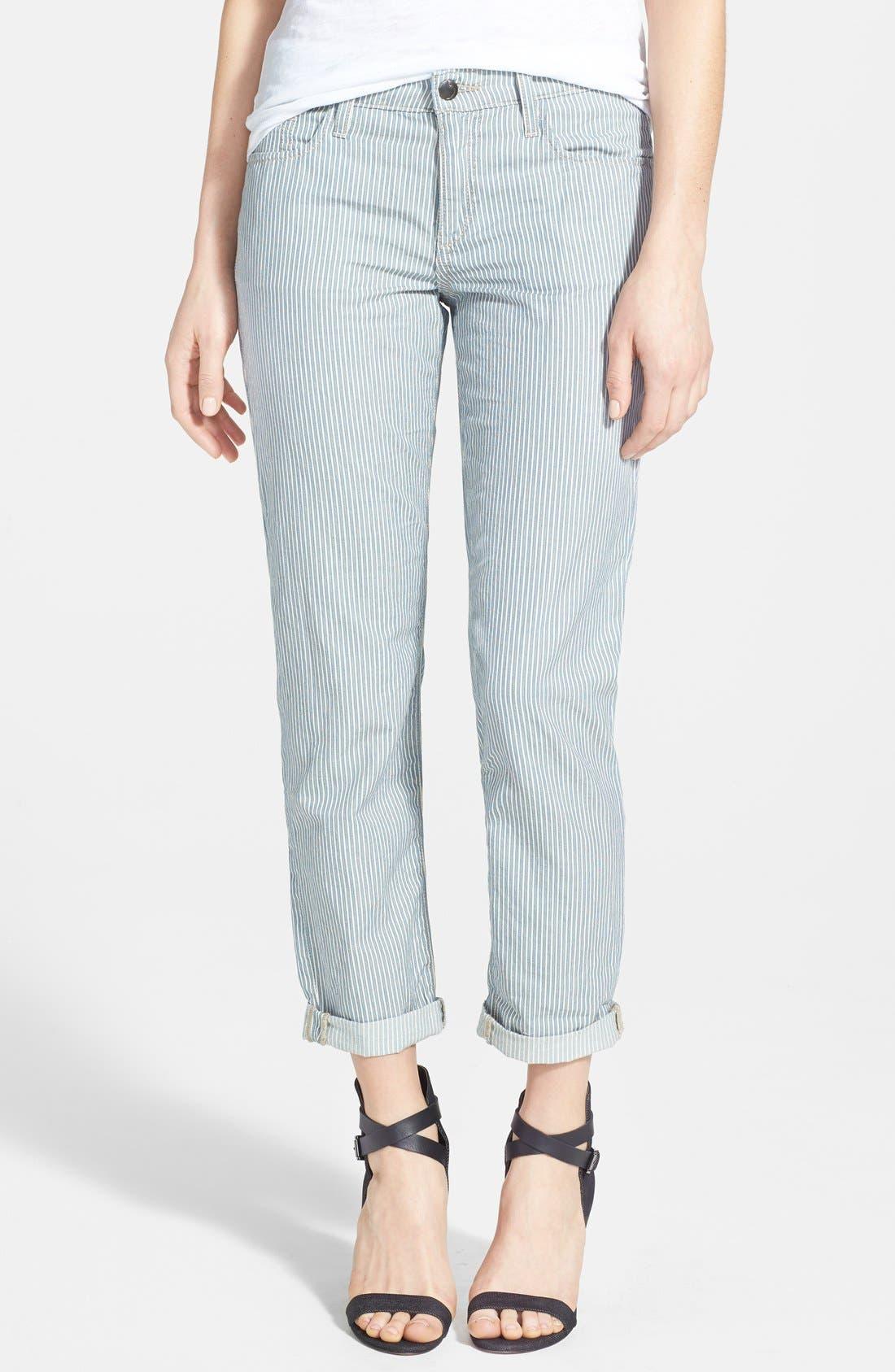 Alternate Image 1 Selected - Joe's Stripe Crop Pants
