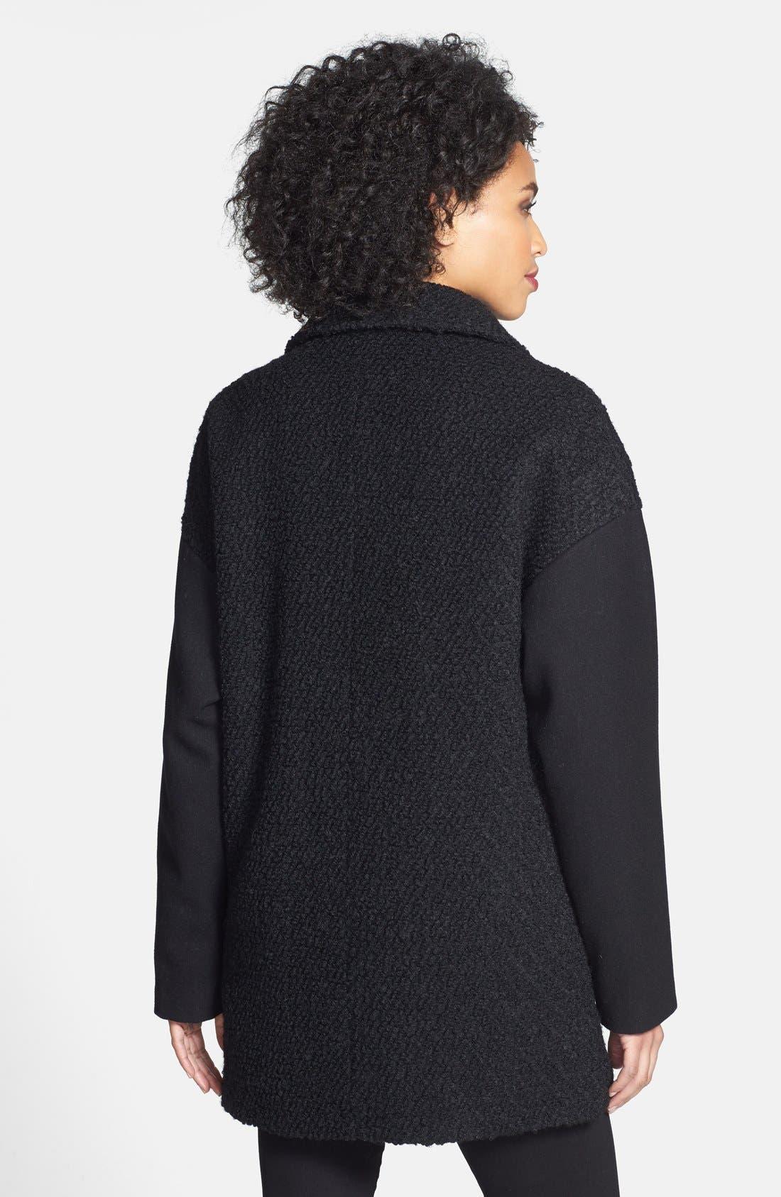 Alternate Image 2  - MICHAEL Michael Kors Zip Front Bouclé Wool Blend Coat