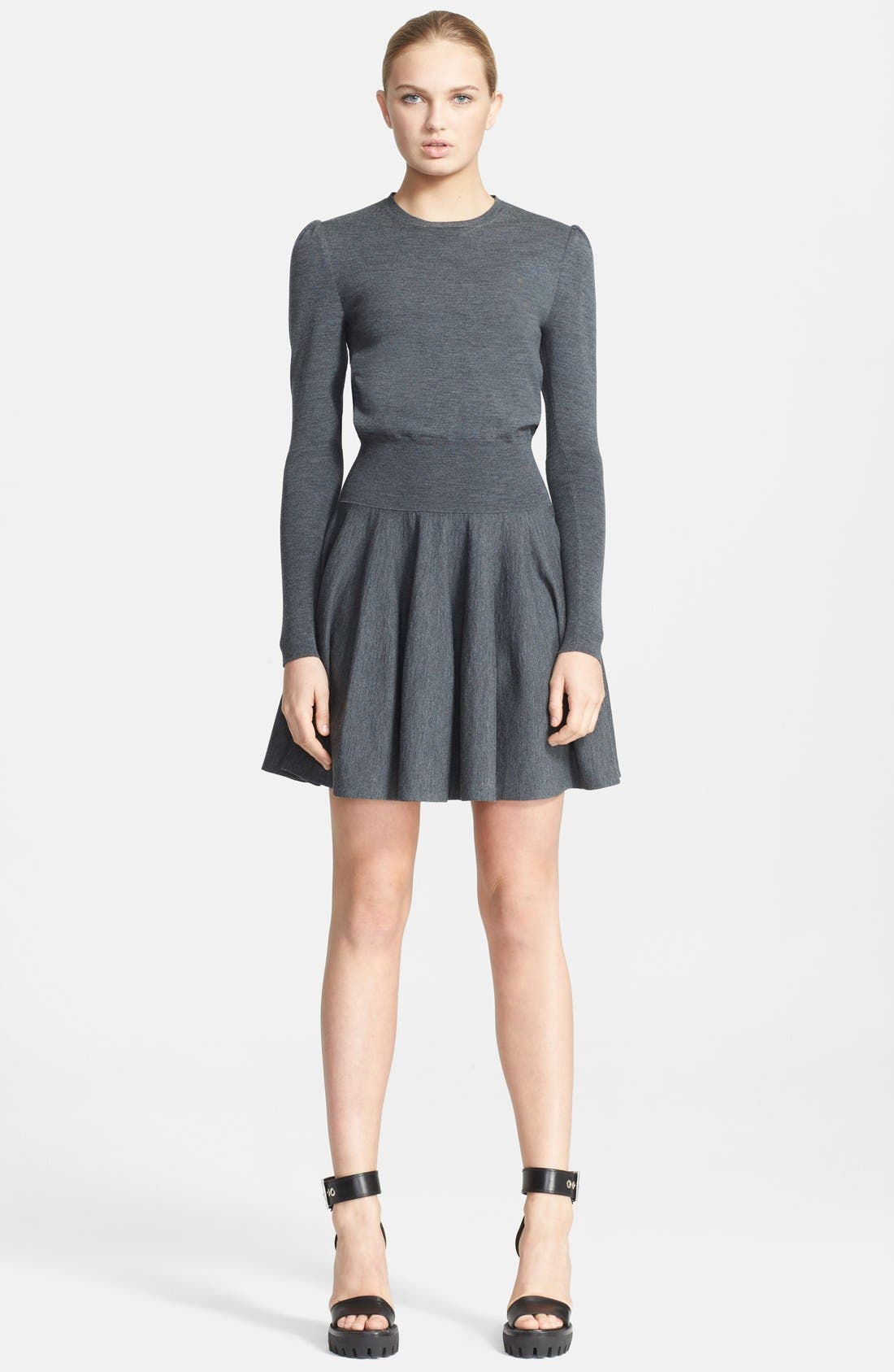 Alternate Image 1 Selected - Alexander McQueen Fit & Flare Knit Dress