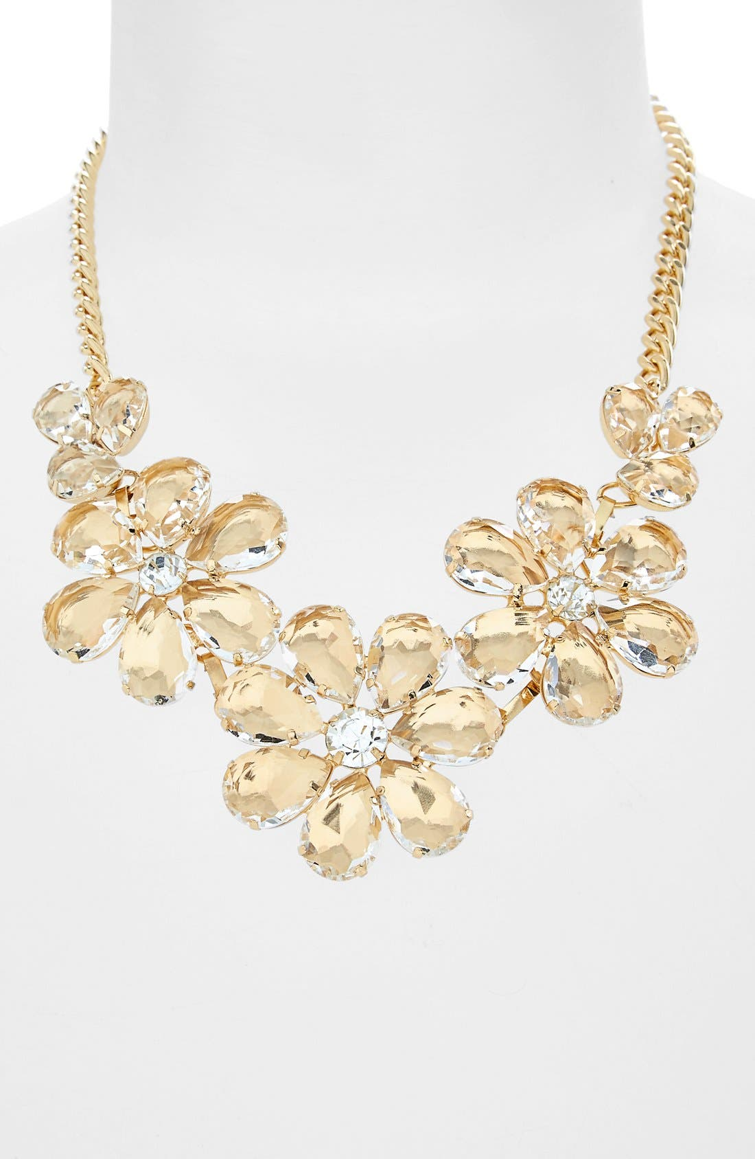Alternate Image 1 Selected - BP. Floral Crystal Statement Necklace (Juniors)