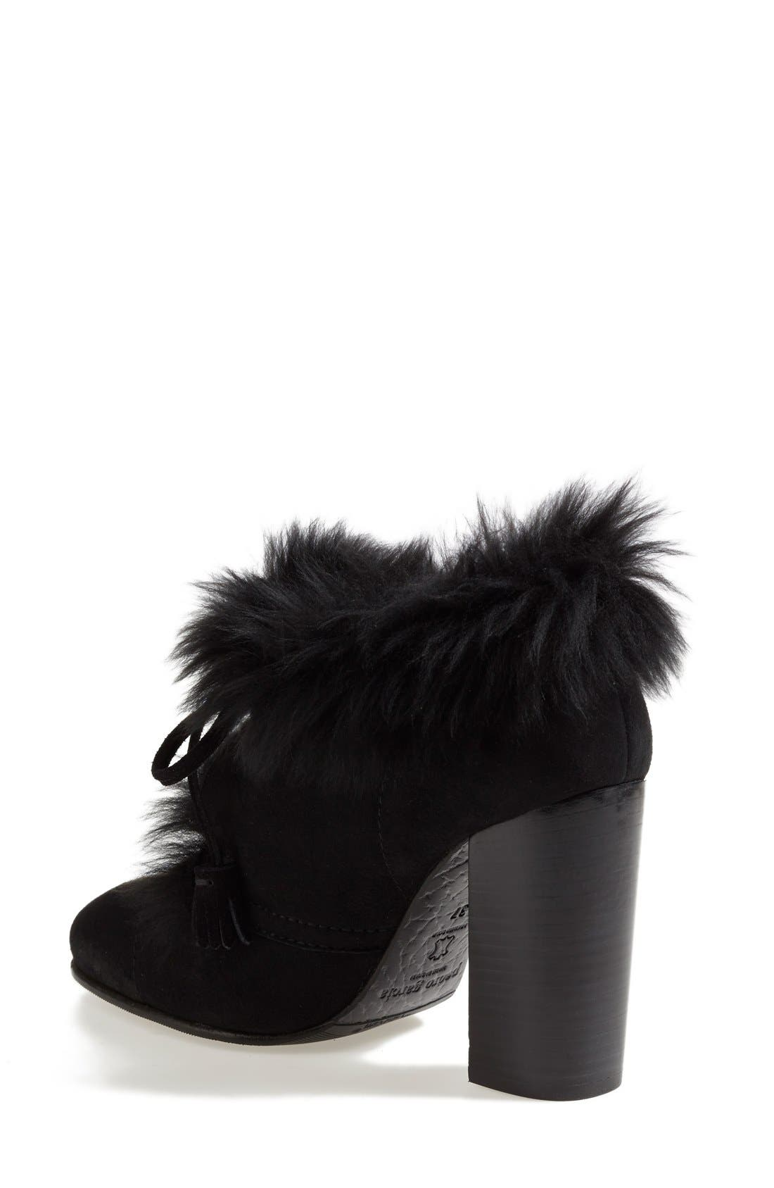 Alternate Image 2  - Pedro Garcia 'Barbara' Genuine Shearling & Leather Bootie (Women)