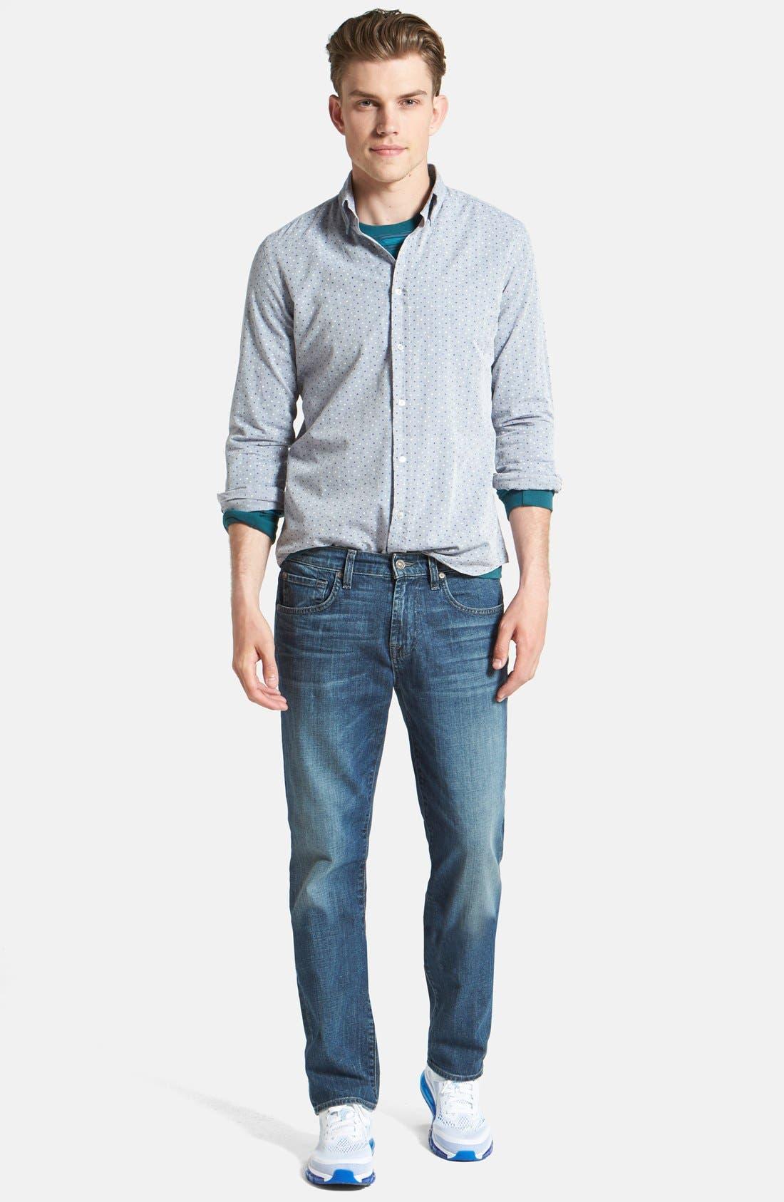 Alternate Image 5  - 7 For All Mankind® 'The Straight' Modern Straight Leg Jeans (Blueridge)