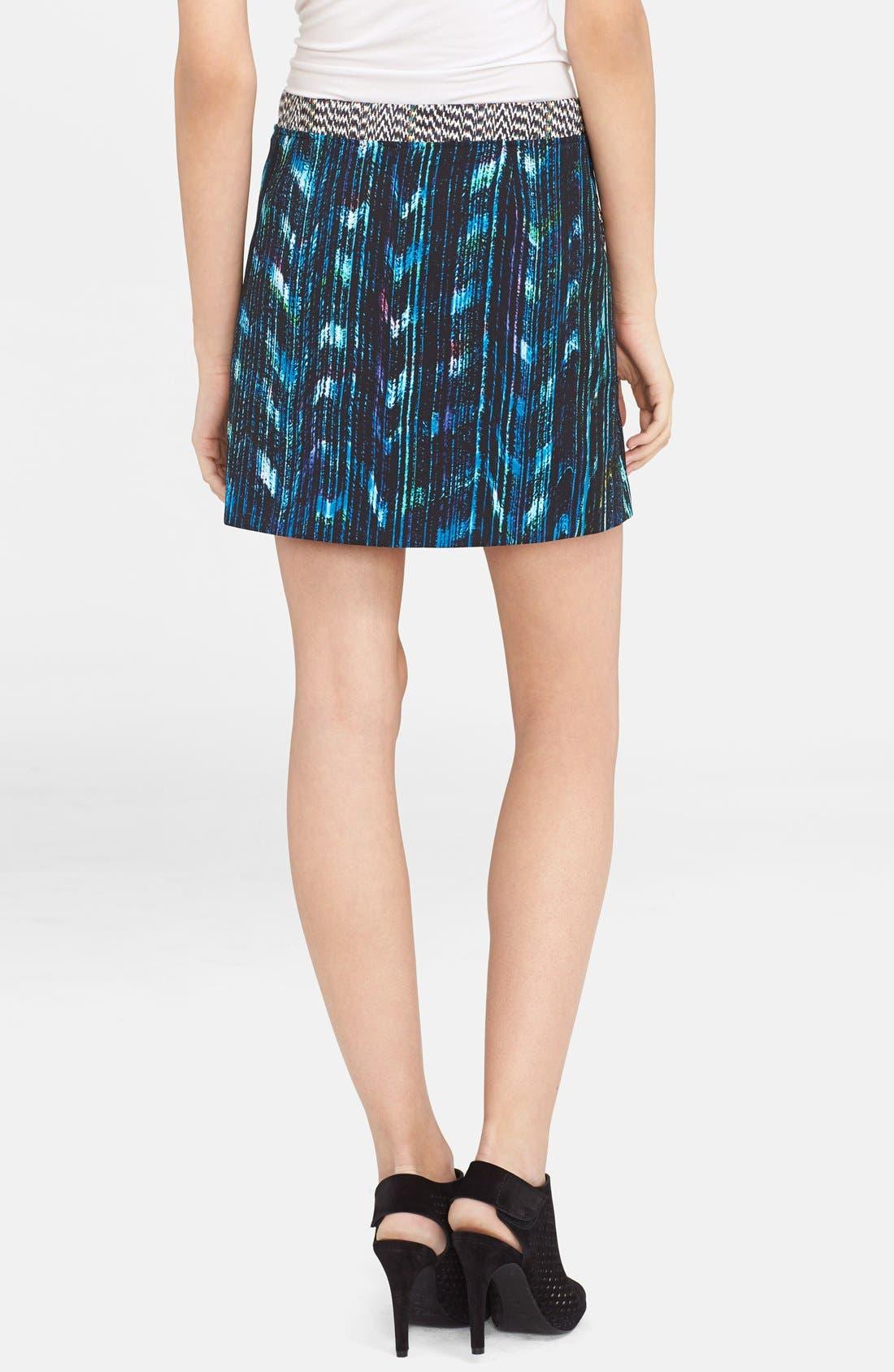 Alternate Image 2  - KENZO 'Distortion' Print Ottoman Knit A-Line Skirt