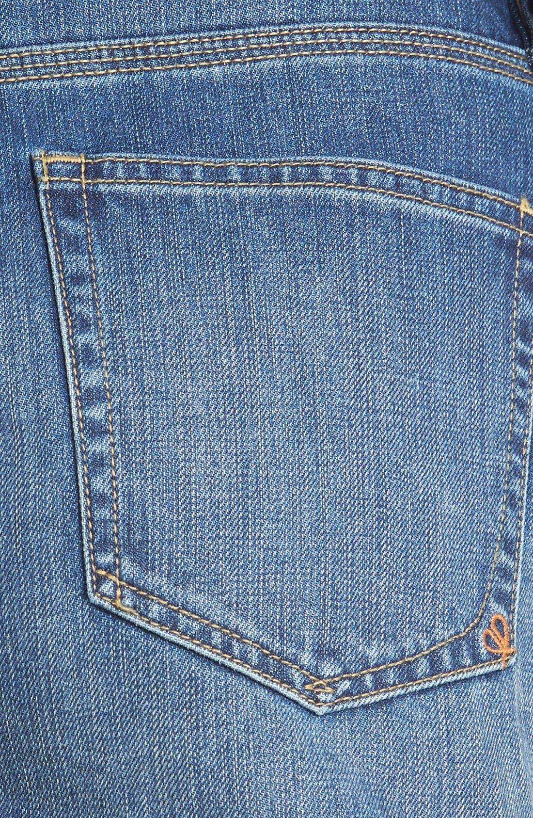 Alternate Image 4  - Dittos 'Kierra' Destroyed High Rise Denim Shorts (Medium Vintage)