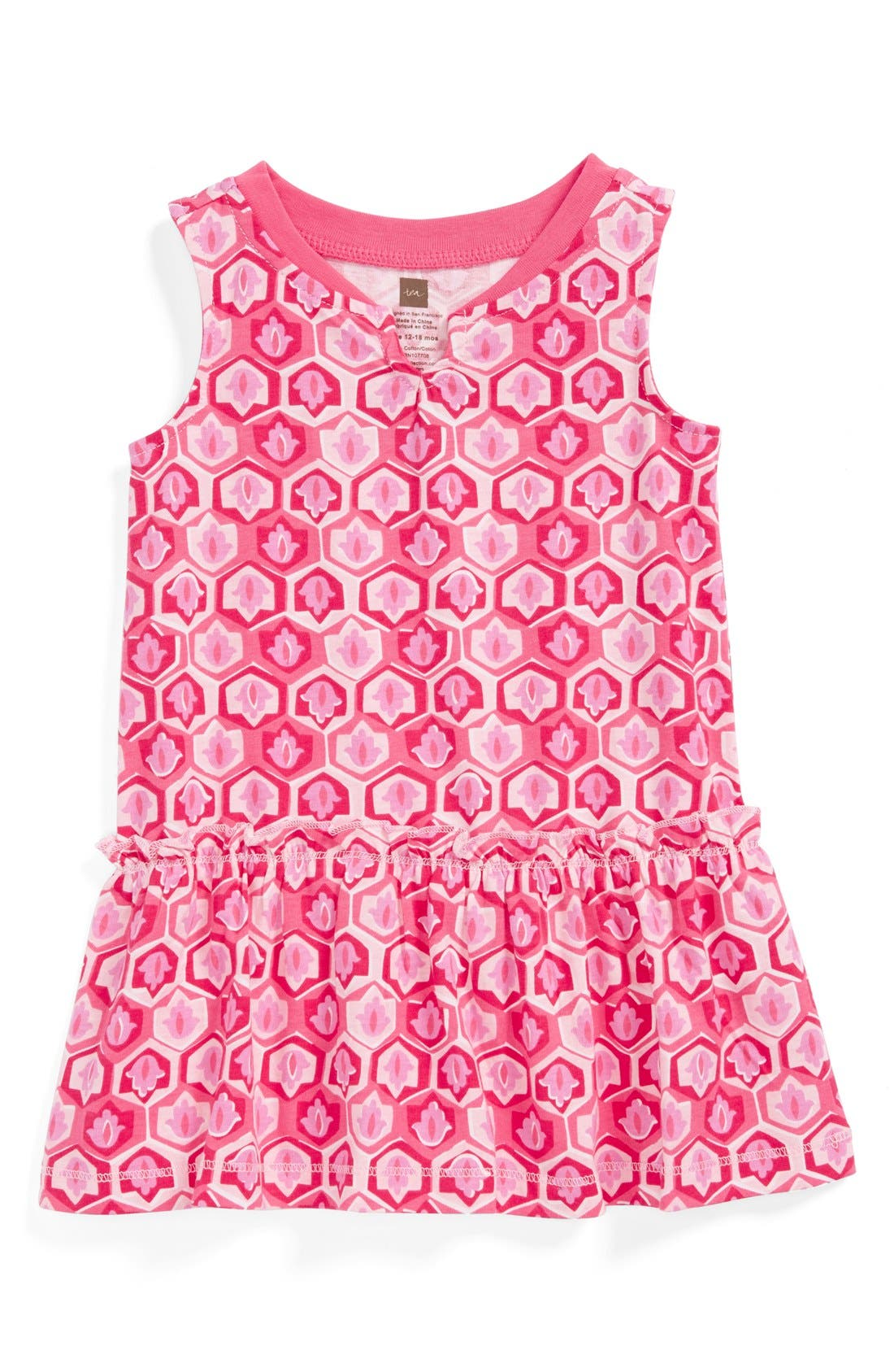 Alternate Image 1 Selected - Tea Collection 'Fatima' Drop Waist Dress (Baby Girls)
