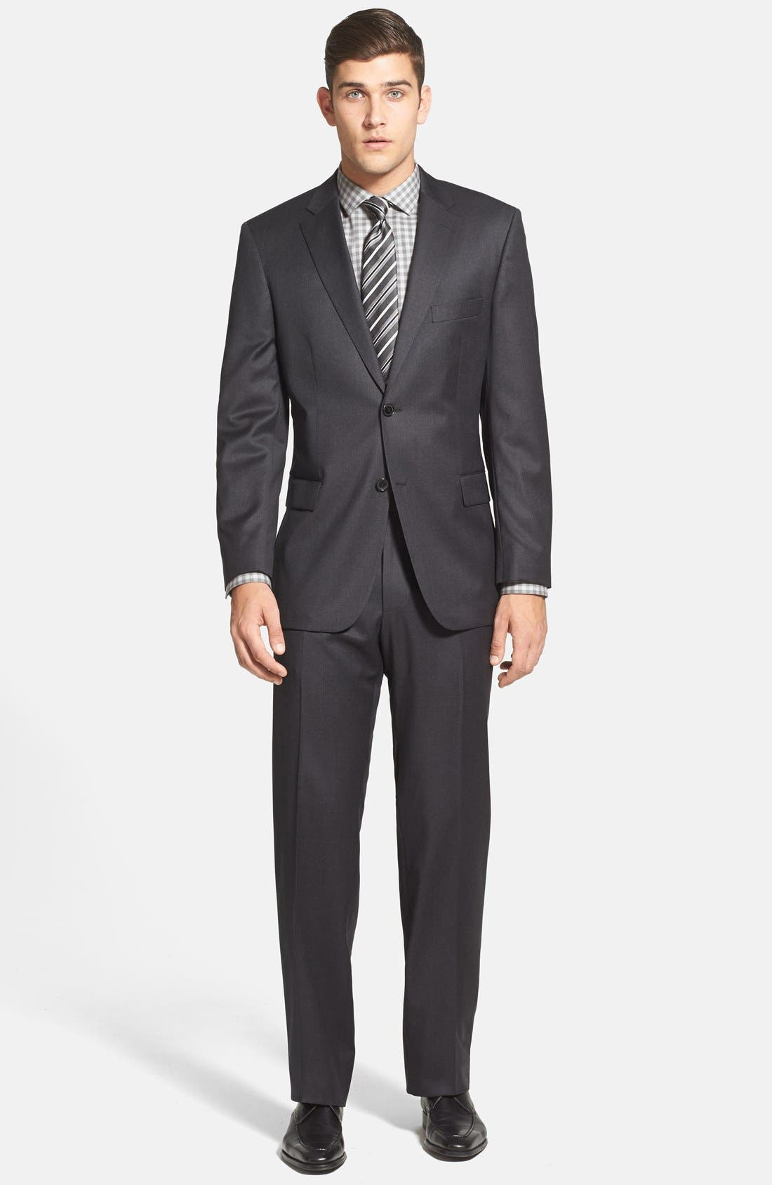 Main Image - BOSS 'Pasolini/Movie' Classic Fit Charcoal Wool Suit