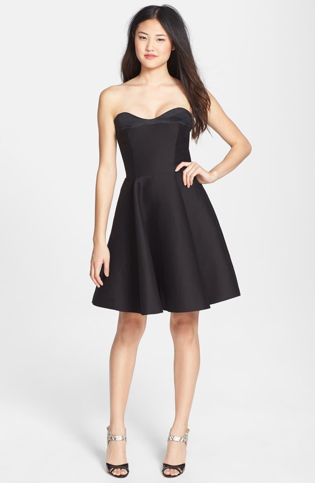 Main Image - Halston Heritage Strapless Fit & Flare Dress