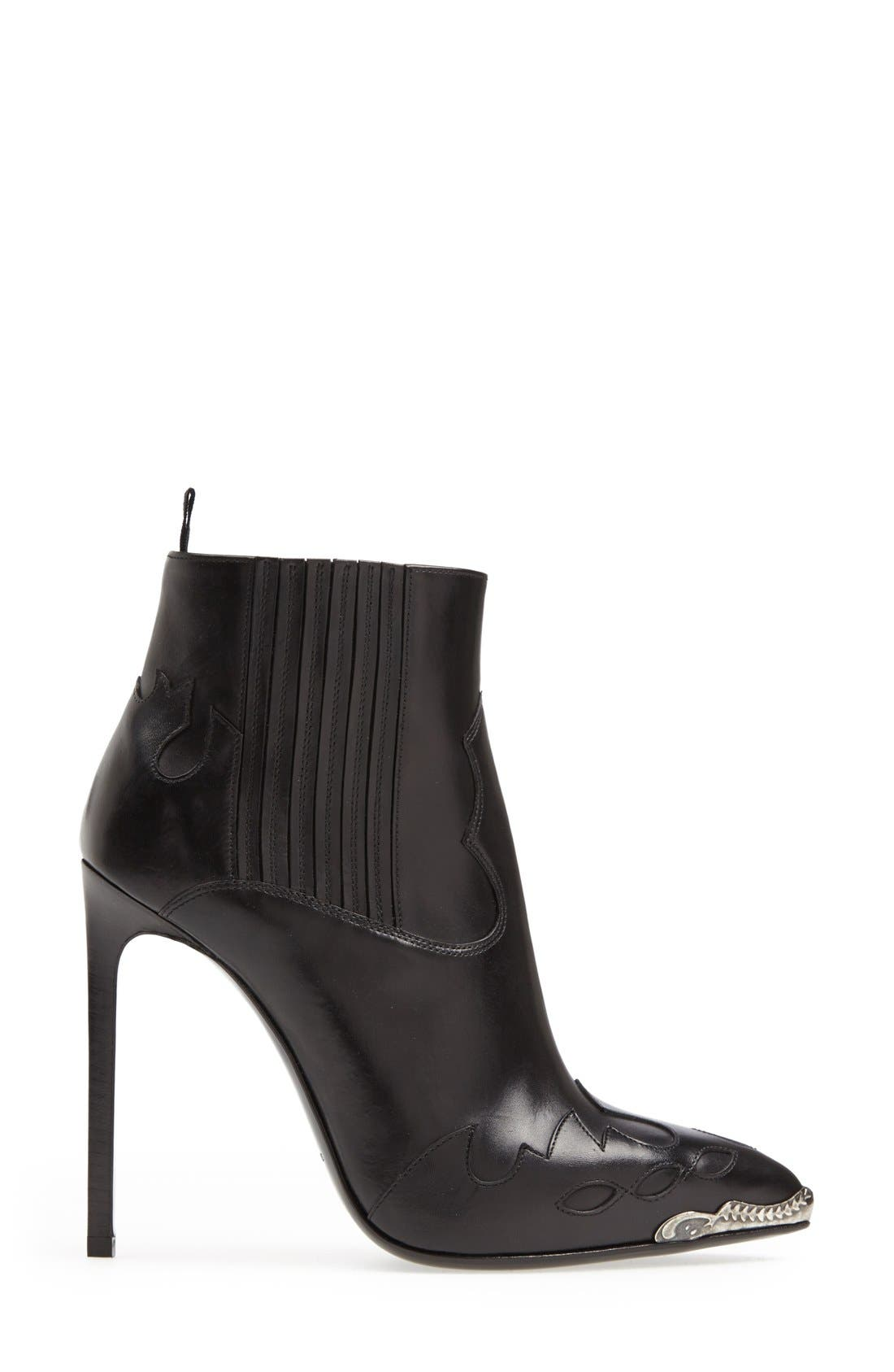 Alternate Image 4  - Saint Laurent Metallic Toe Bootie (Women)