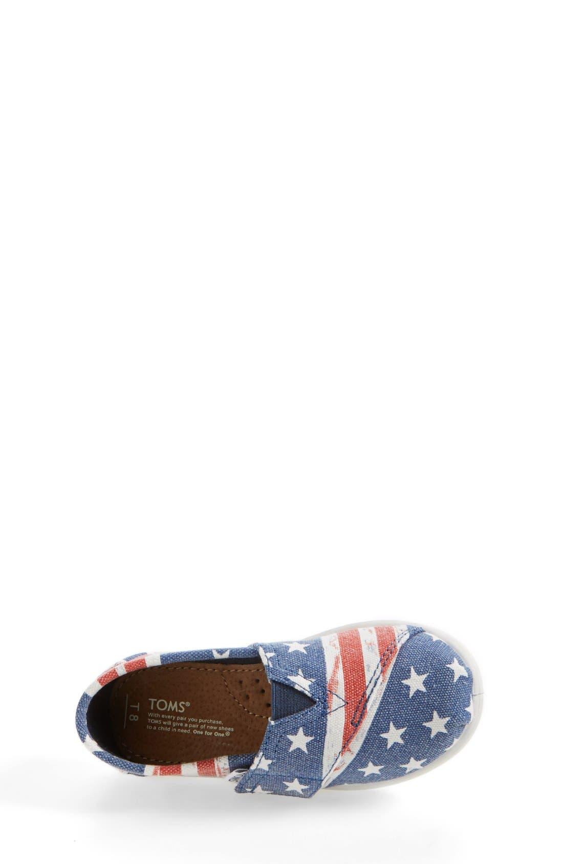 Alternate Image 3  - TOMS 'Classic Tiny - American Flag' Slip-On (Baby, Walker & Toddler)