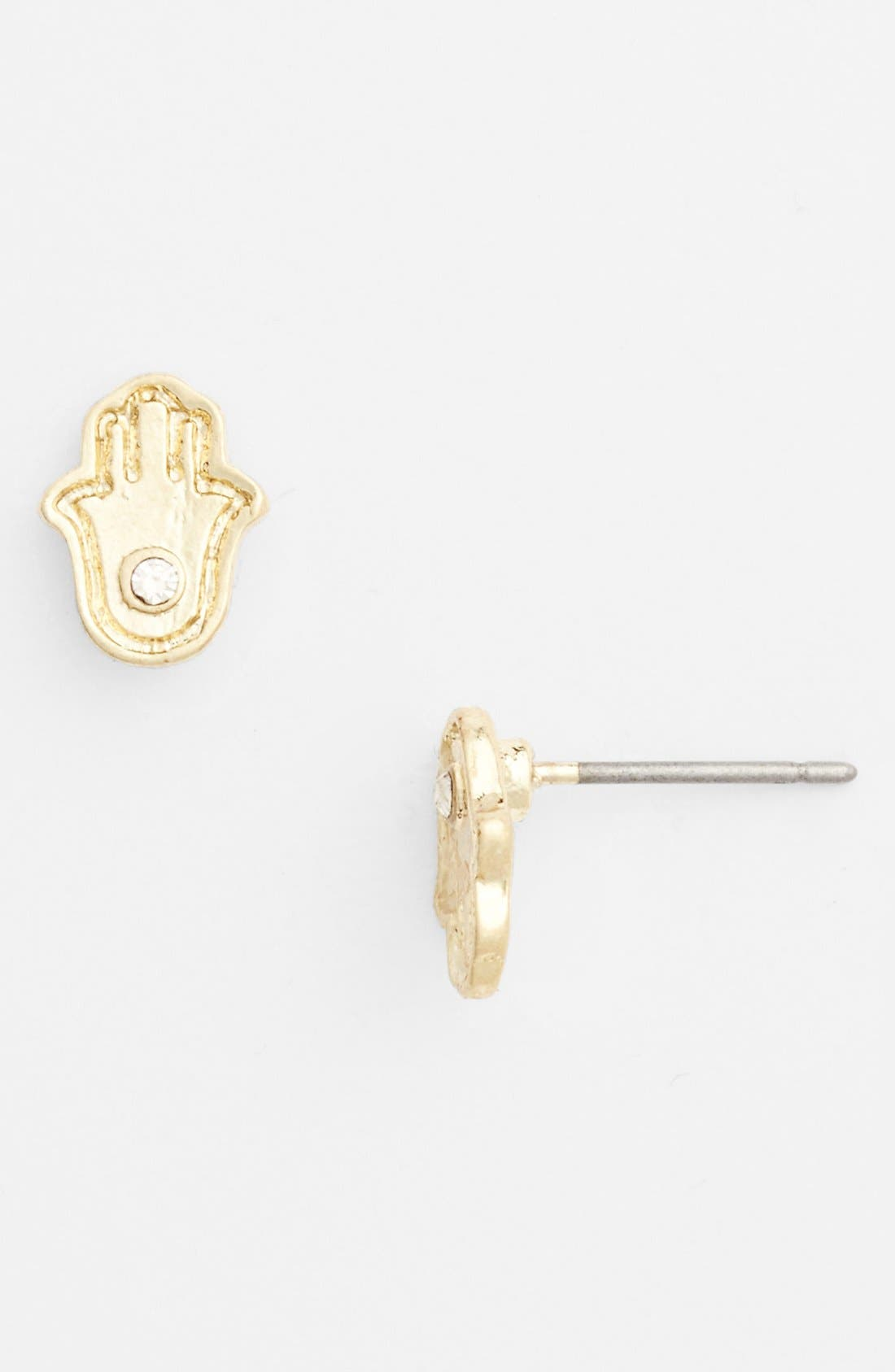 Alternate Image 1 Selected - Stephan & Co. 'Hamsa' Stud Earrings (Juniors)