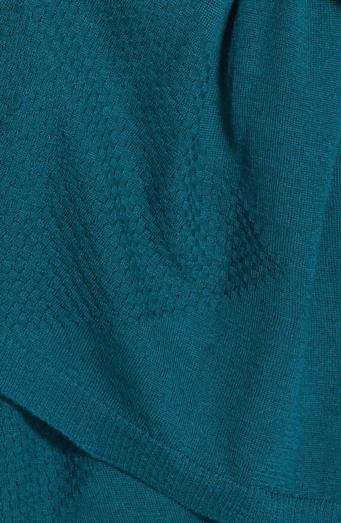 Alternate Image 3  - Halogen® Diamond Stitch Wool Blend Wrap