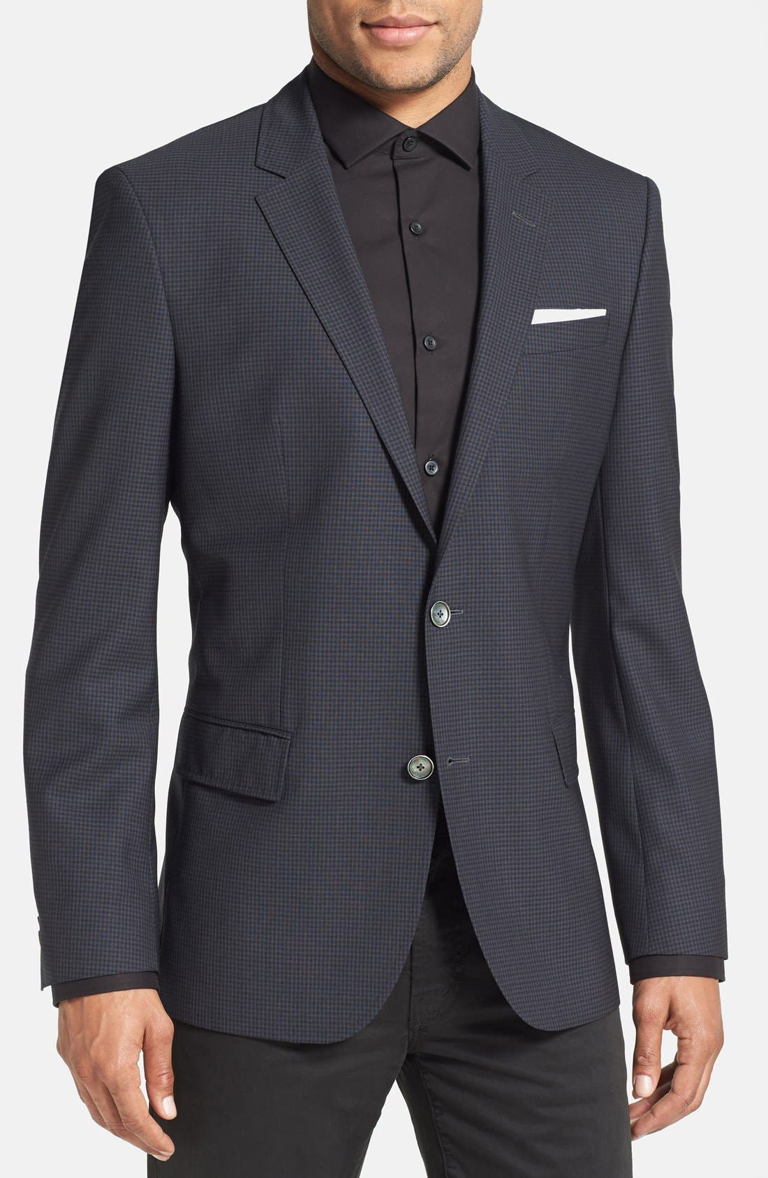 Alternate Image 1 Selected - BOSS HUGO BOSS 'Hutsons' Trim Fit Check Sport Coat