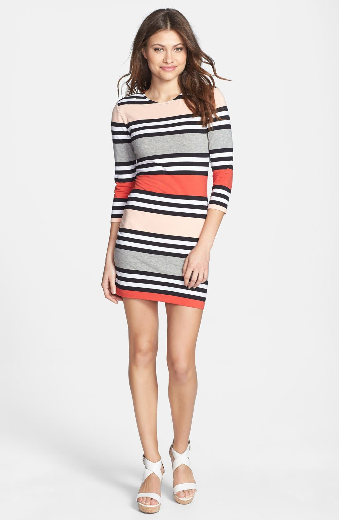 Alternate Image 3  - French Connection 'Jag' Multi Stripe Jersey Dress