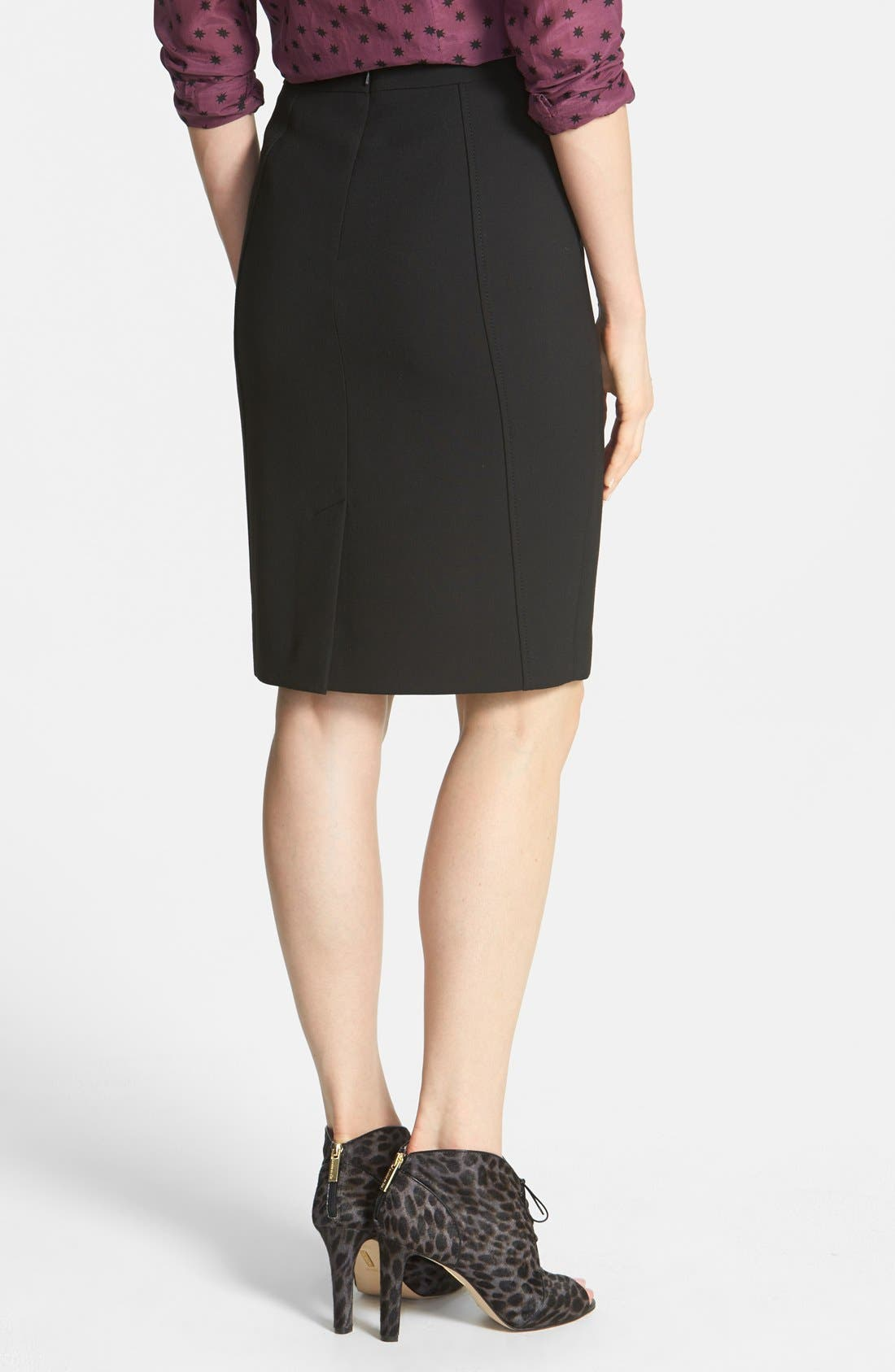 Alternate Image 3  - Halogen® Seamed Pencil Skirt (Regular & Petite)