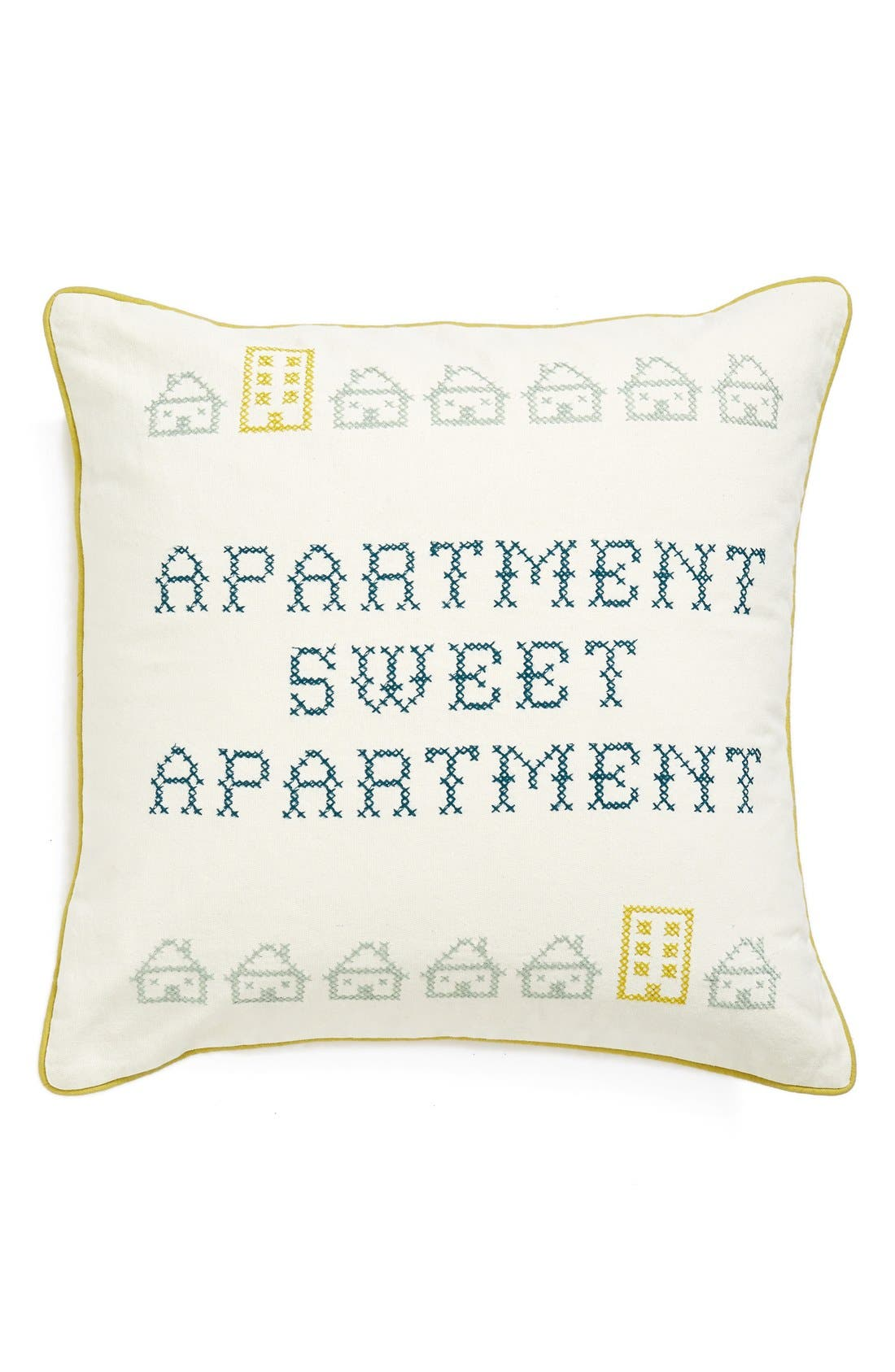 Alternate Image 1 Selected - Nordstrom at Home 'Sweet Apartment' Embroidered Accent Pillow