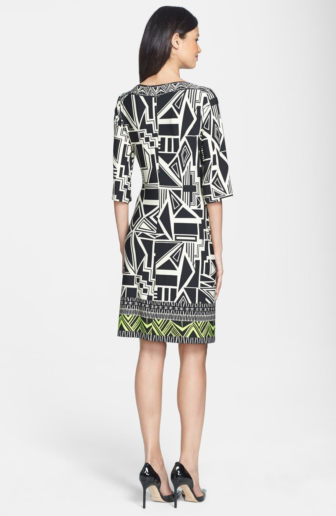 Alternate Image 2  - Donna Morgan Print Jersey Shift Dress