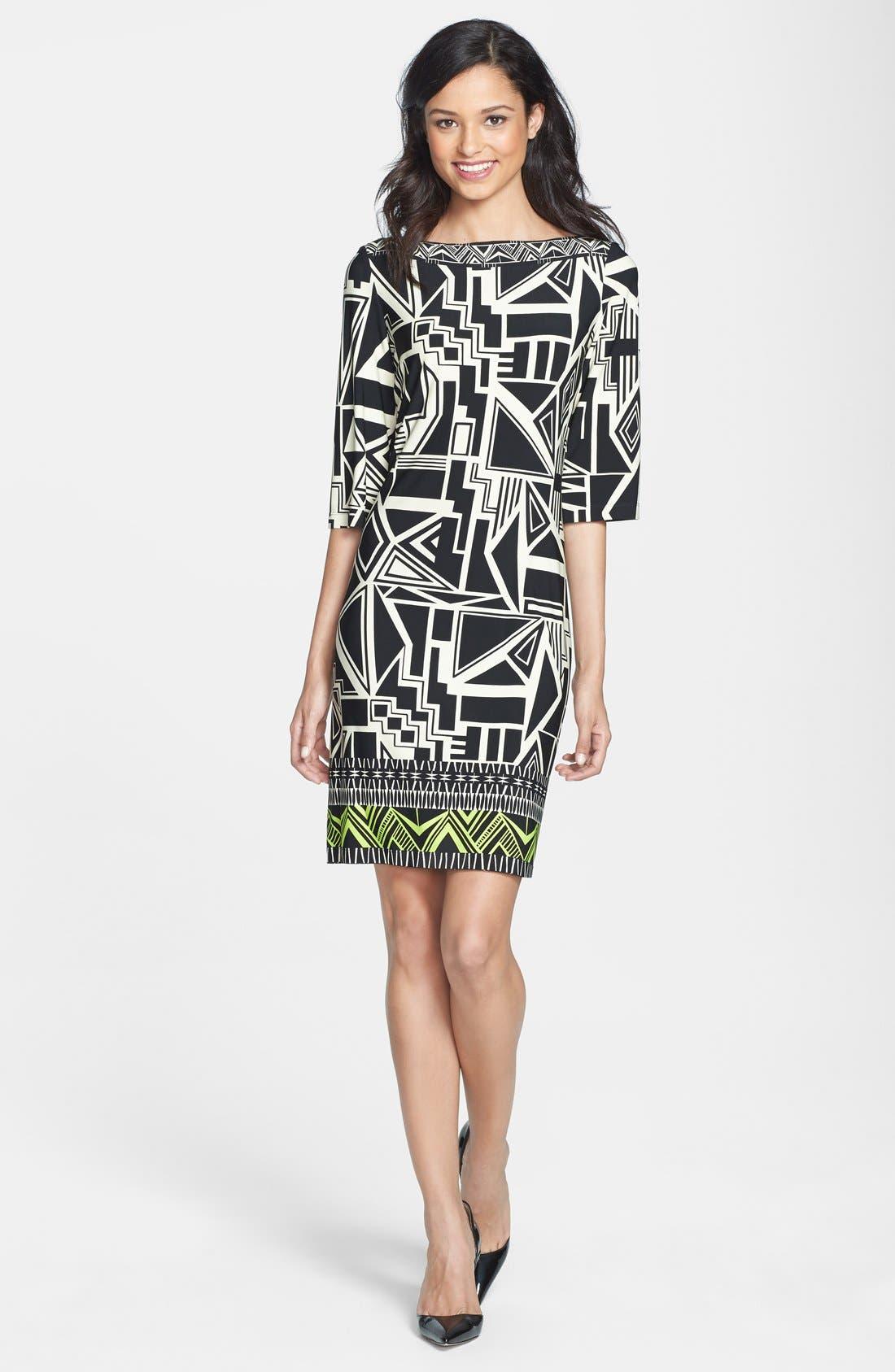 Alternate Image 3  - Donna Morgan Print Jersey Shift Dress