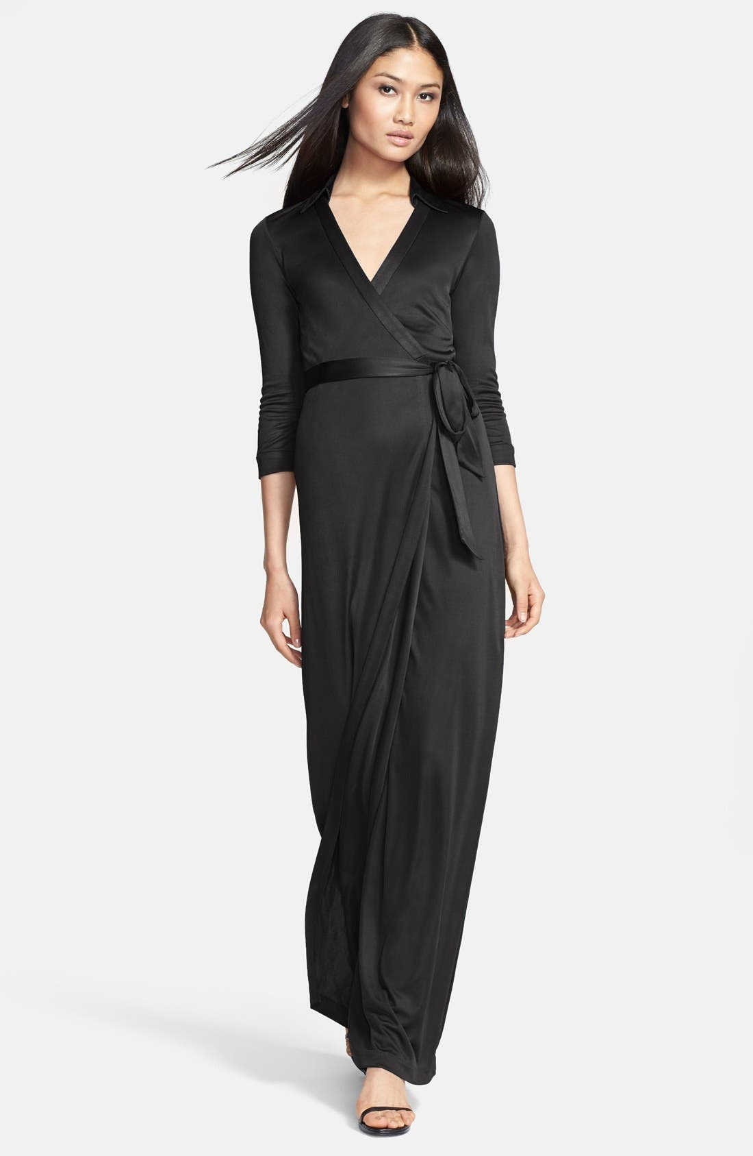 Alternate Image 1 Selected - Diane von Furstenberg 'Abigail' Wrap Maxi Dress