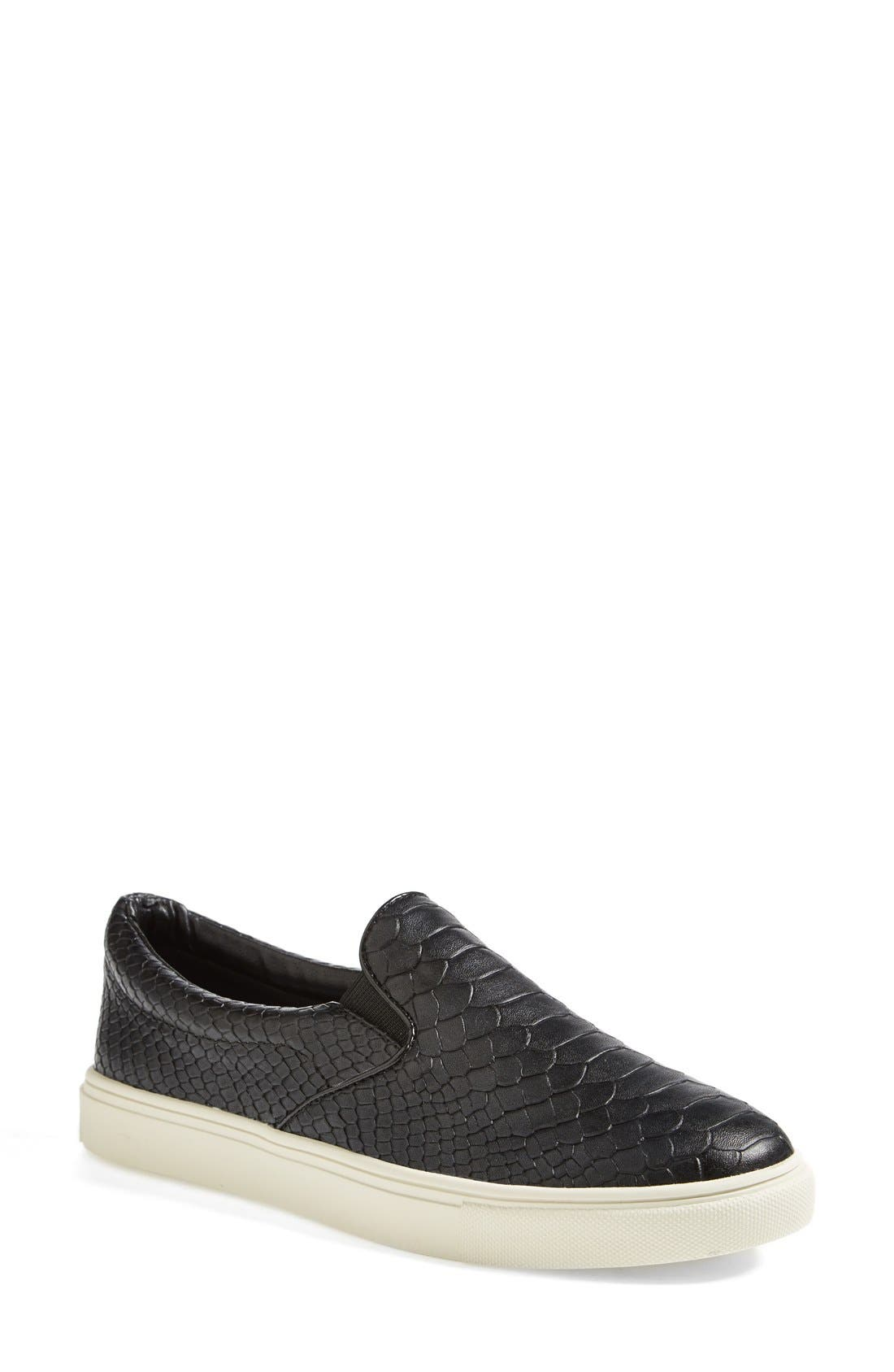 Alternate Image 1 Selected - Steve Madden 'Ecntrc-c' Snake-Embossed Slip-On Sneaker (Women)