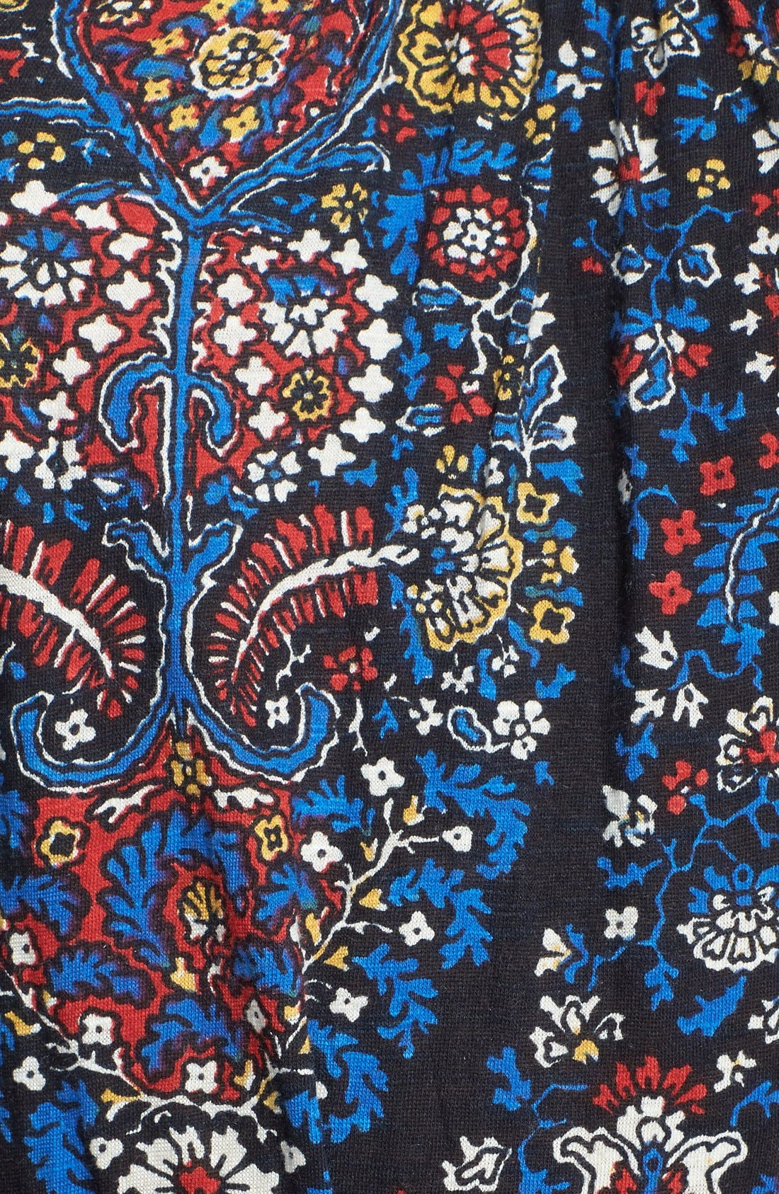 Alternate Image 3  - Lucky Brand Embroidered Paisley Print Jersey Maxi Dress
