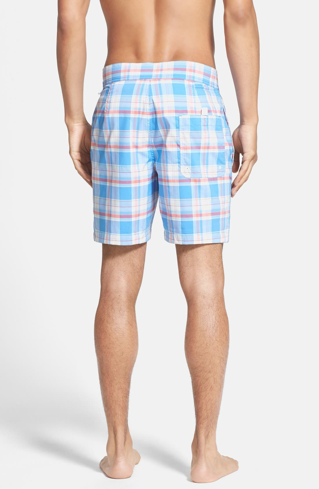Alternate Image 2  - Lacoste Plaid Swim Shorts