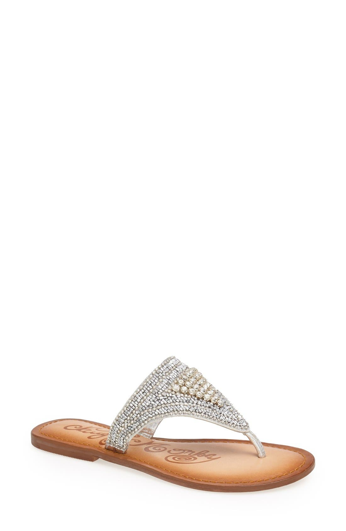 Alternate Image 1 Selected - Naughty Monkey 'Gusto' Beaded Sandal (Women)