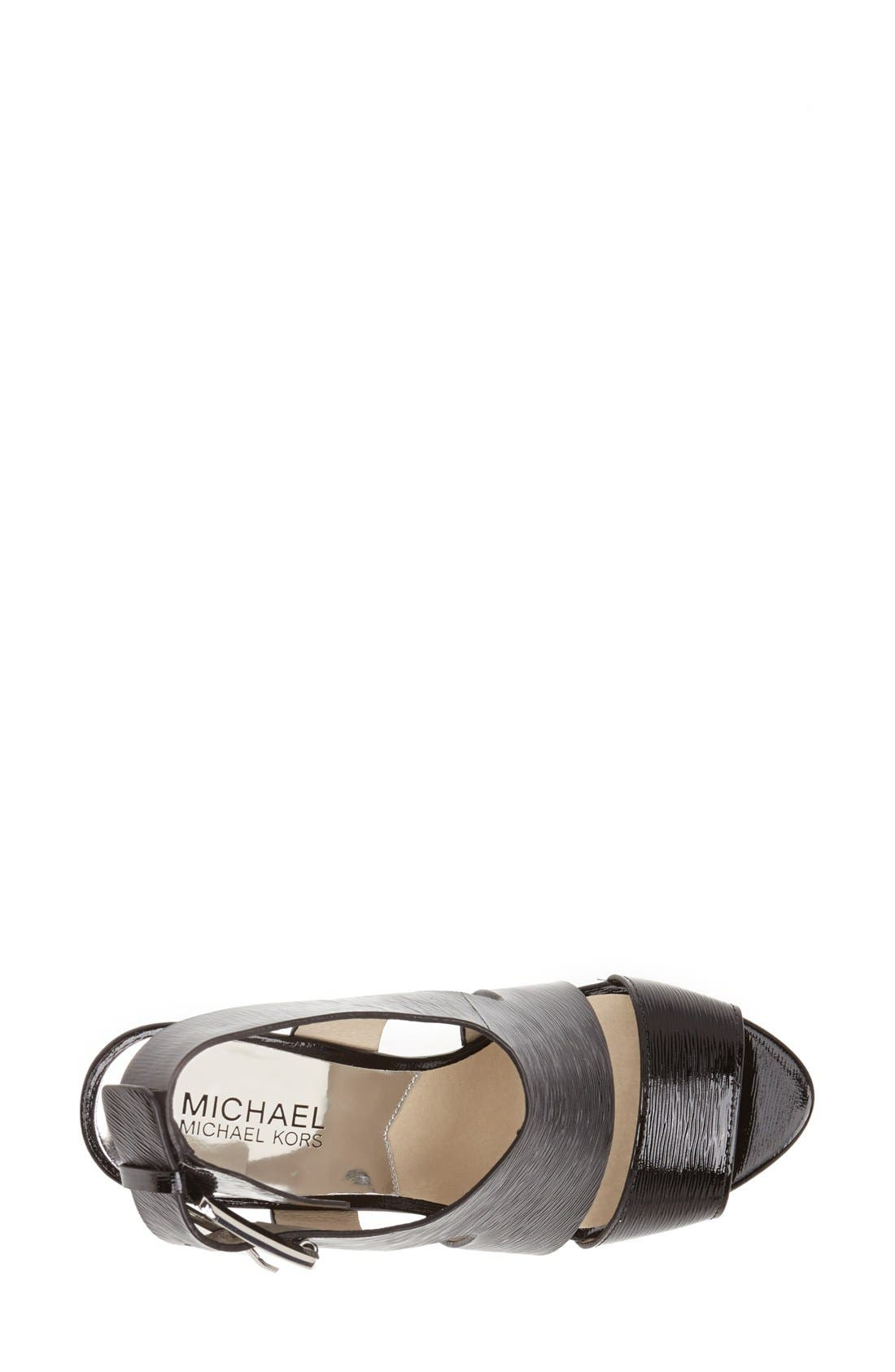 Alternate Image 3  - MICHAEL Michael Kors 'Carla' Saffiano Patent Leather Sandal (Women)