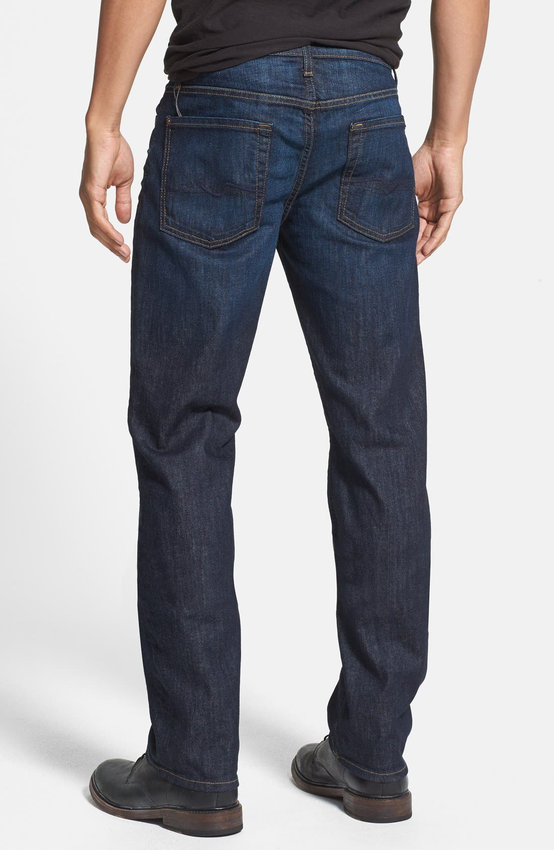 Alternate Image 2  - 7 For All Mankind® 'Slimmy' Slim Straight Leg Jeans (Monaco Blue)
