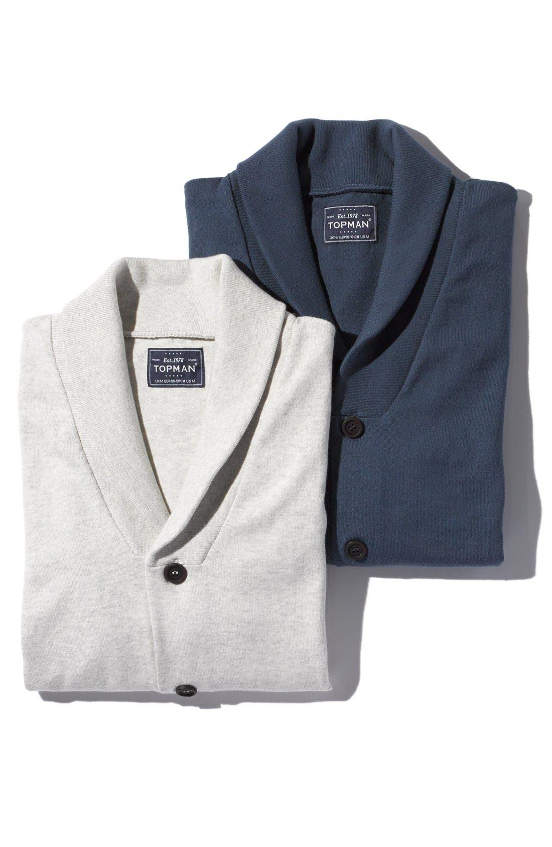 Alternate Image 5  - Topman Jersey Shawl Collar Cardigan