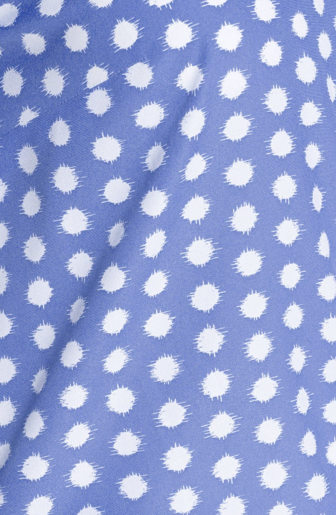 Alternate Image 3  - MICHAEL Michael Kors Colorblock Mixed Media Tie Front Top (Plus Size)
