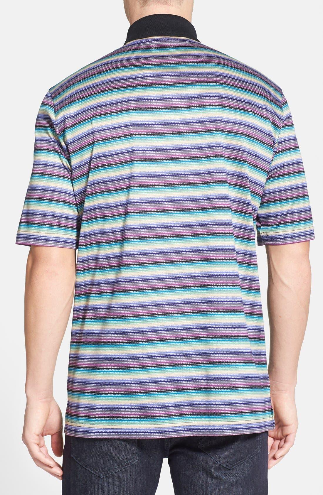 Alternate Image 2  - Bugatchi Stripe Mercerized Cotton Polo