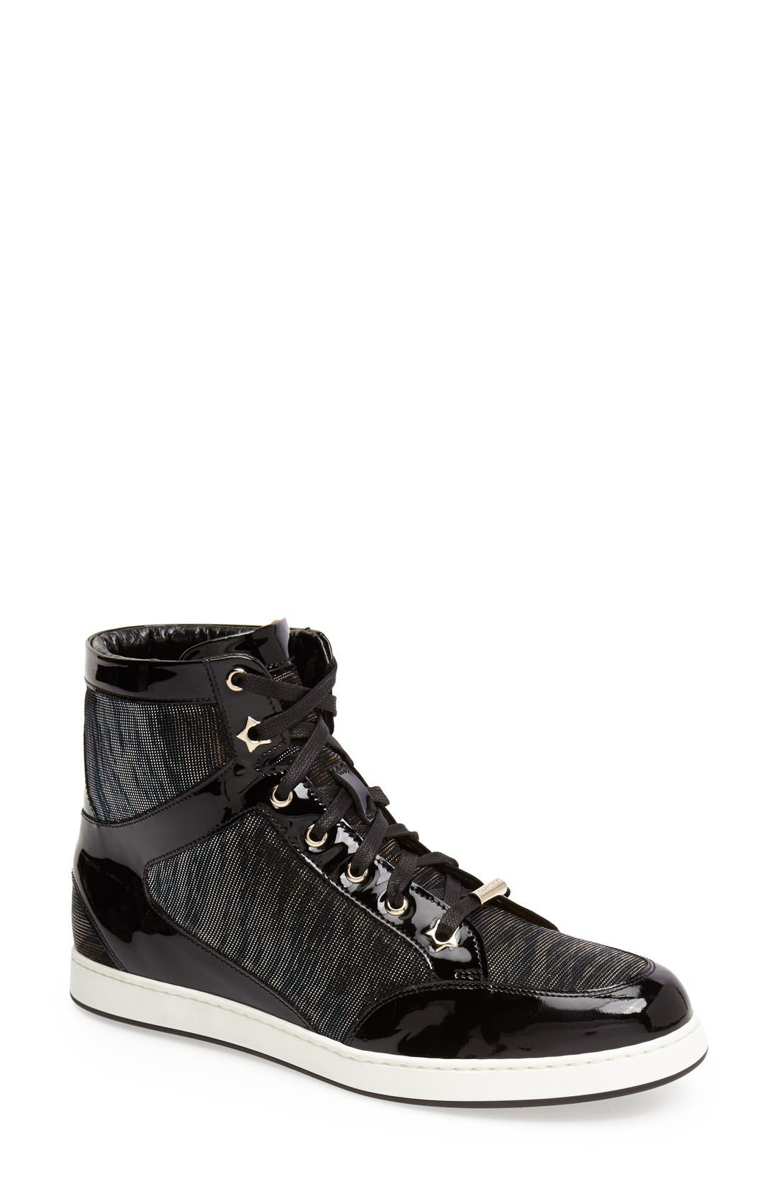 Alternate Image 1 Selected - Jimmy Choo 'Tokyo' High Top Sneaker (Women)