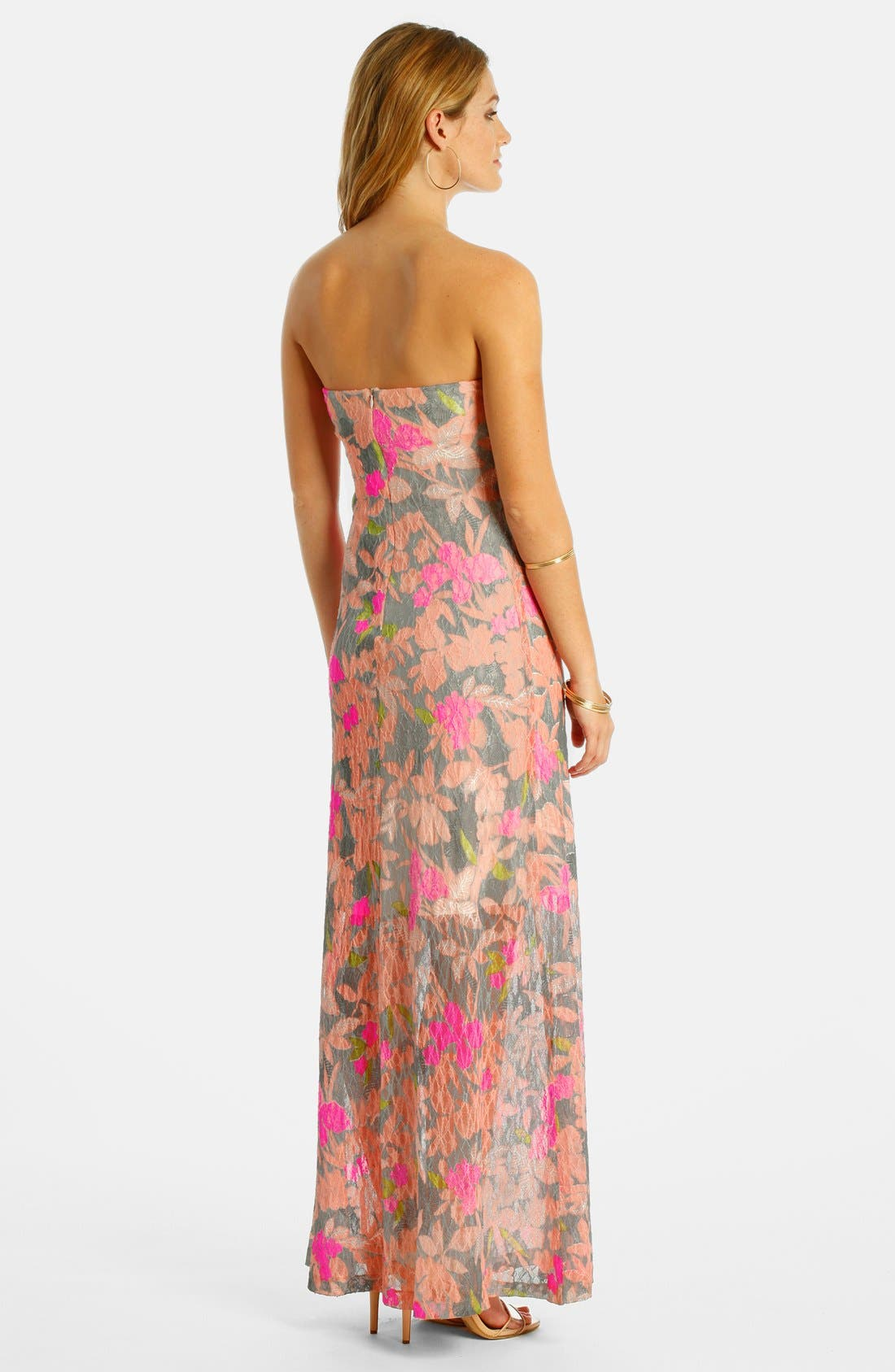 Alternate Image 2  - LABEL by five twelve Burnout Lace Maxi Dress