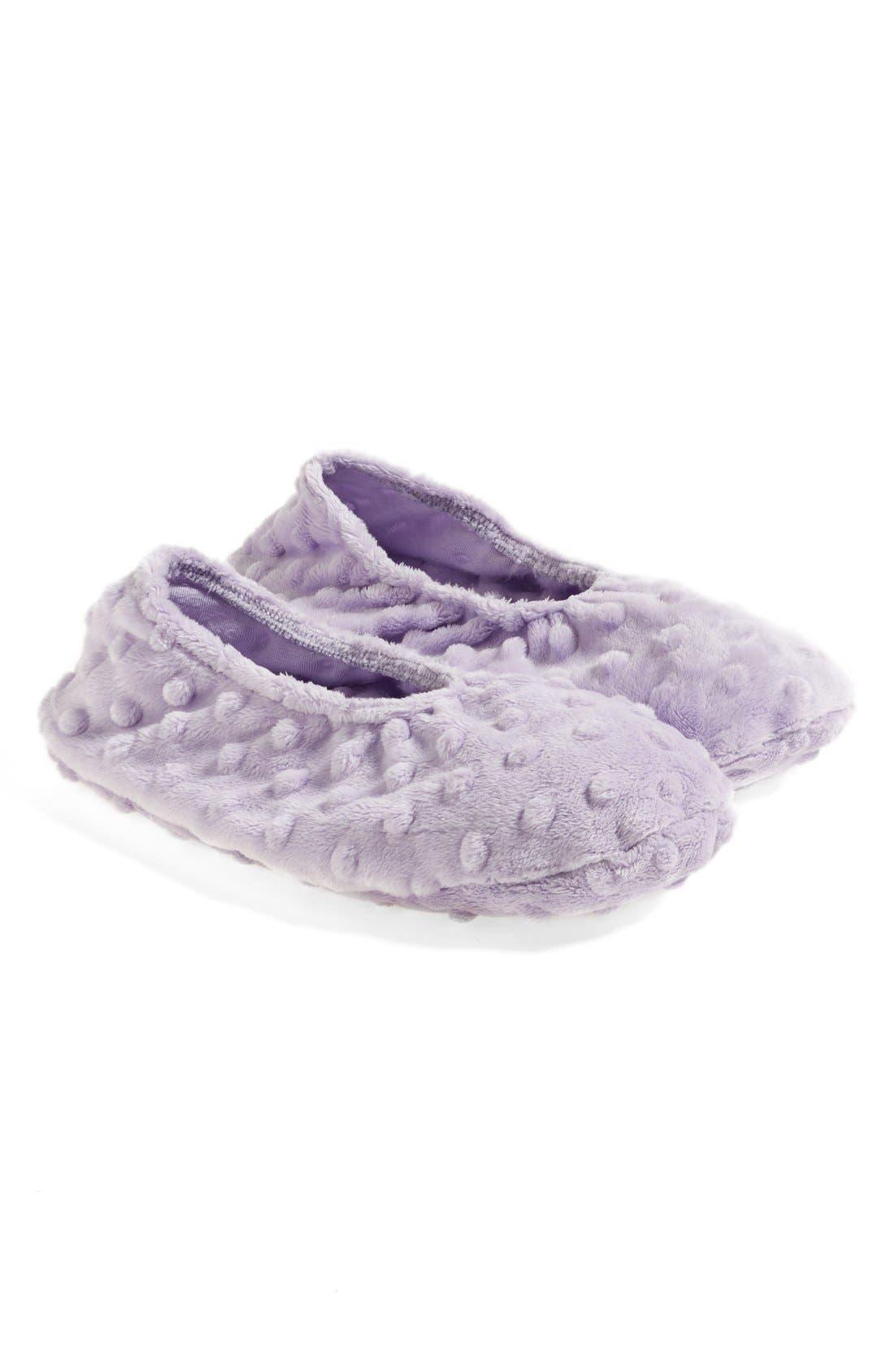 Sonoma Lavender Lilac Dot Footies