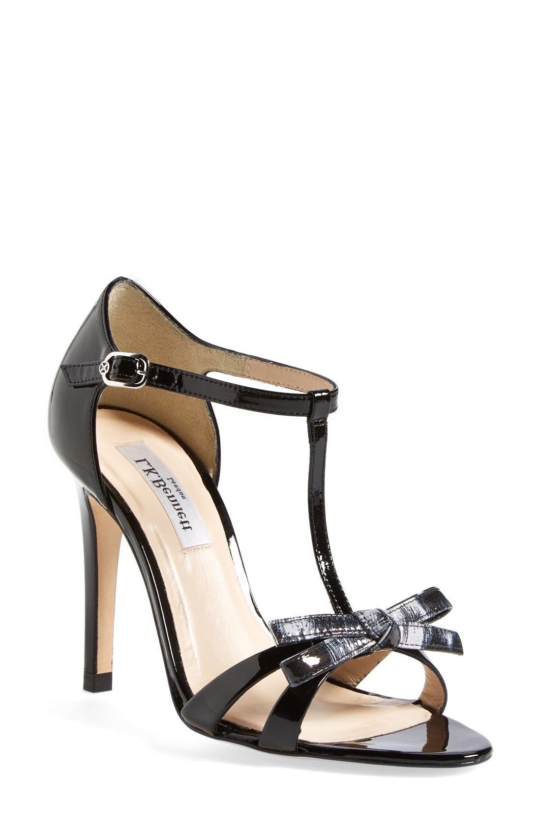 Alternate Image 1 Selected - L.K. Bennett 'Anya' T-Strap Leather Sandal (Women)