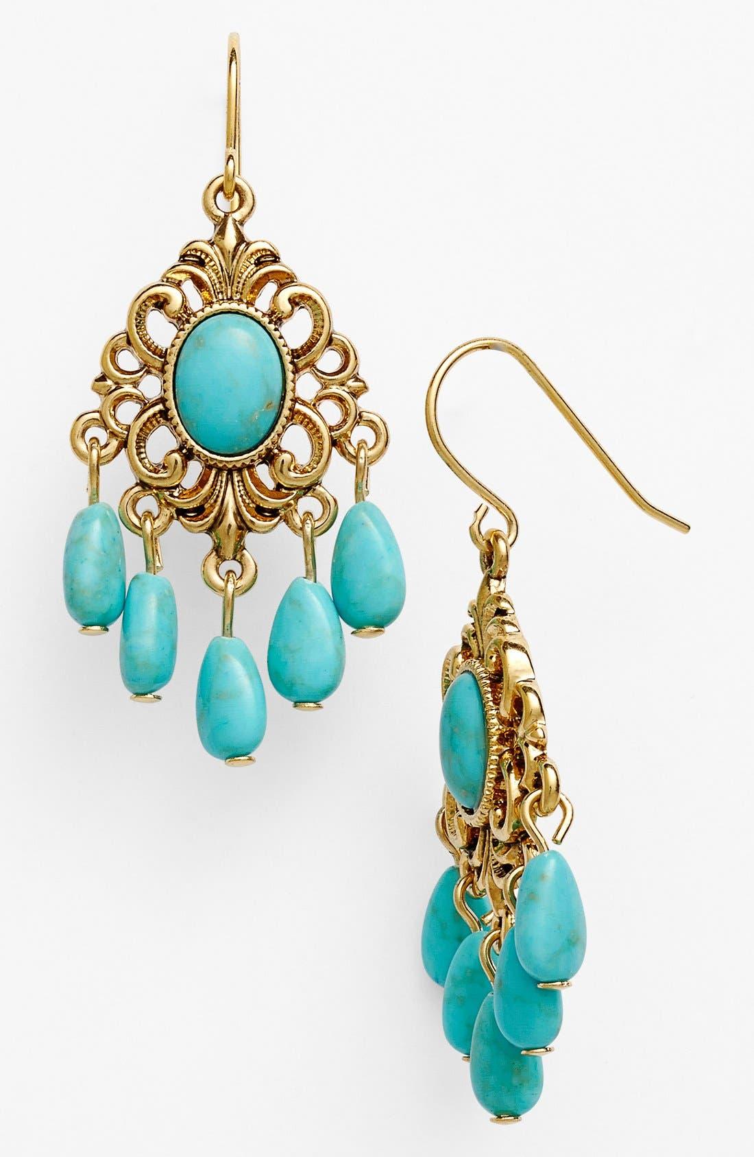 Alternate Image 1 Selected - Lauren Ralph Lauren 'Nigiri Turq' Drop Earrings