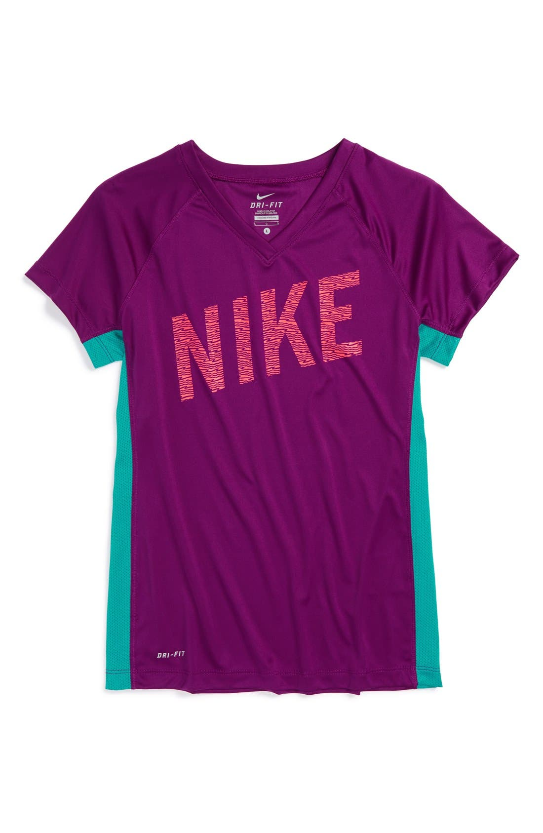 Alternate Image 1 Selected - Nike 'Hyper Speed GFX' Dri-FIT Top (Little Girls & Big Girls)