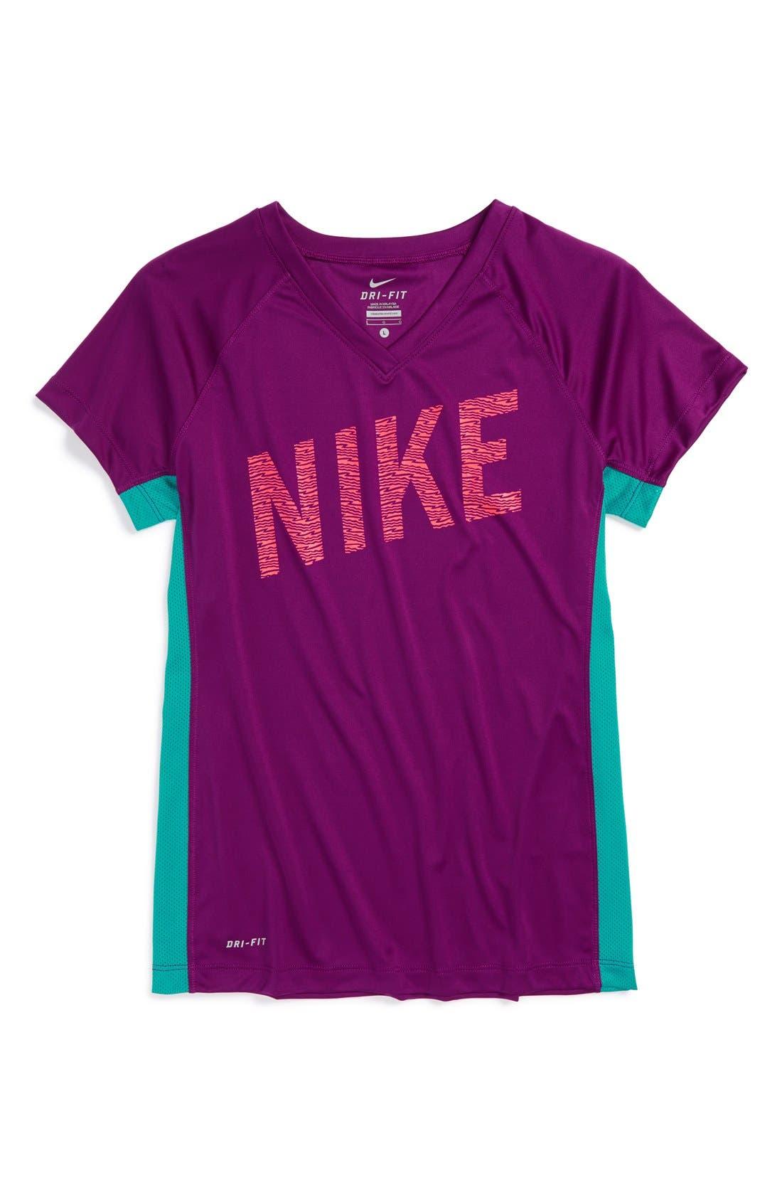 Main Image - Nike 'Hyper Speed GFX' Dri-FIT Top (Little Girls & Big Girls)
