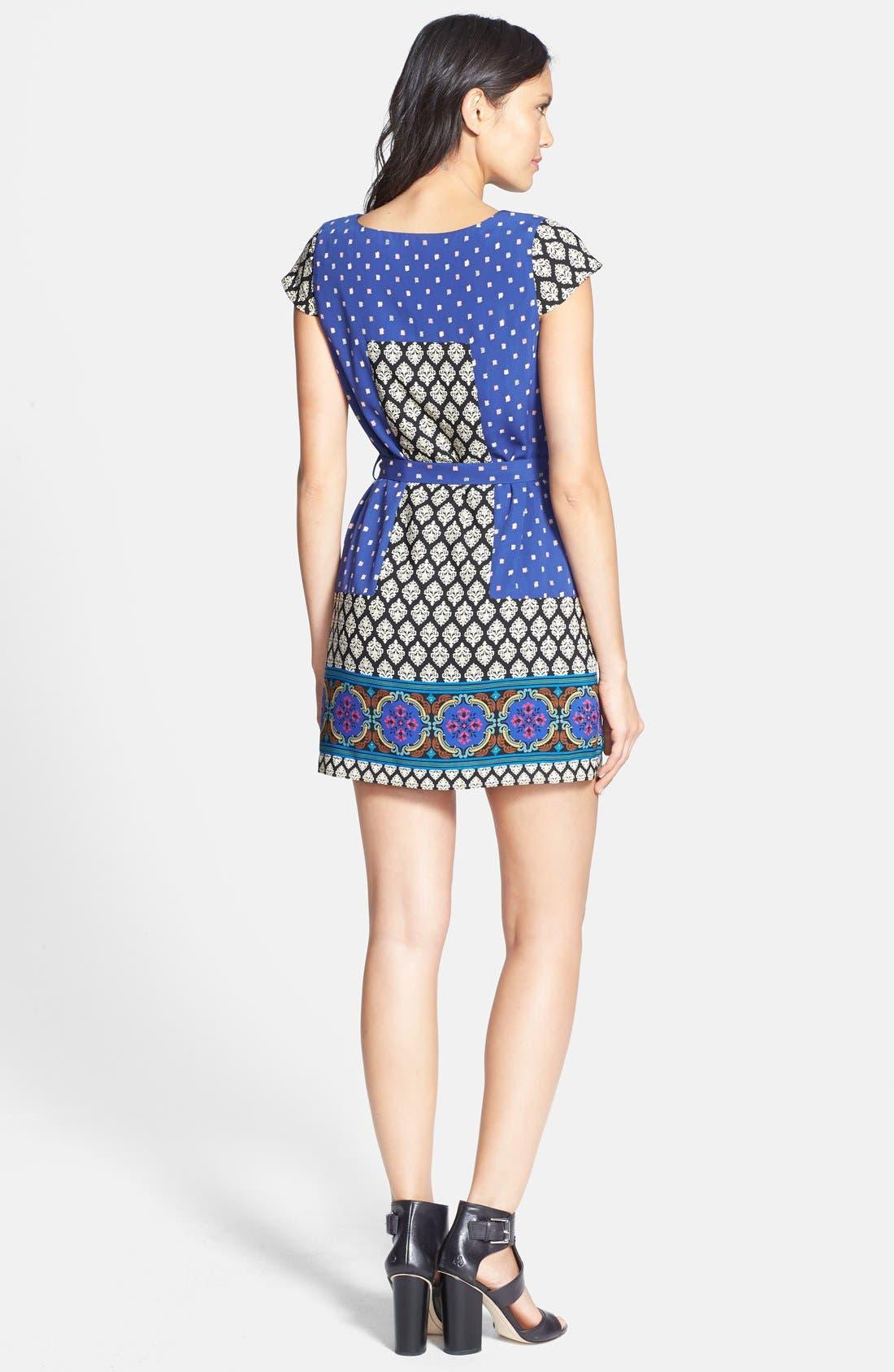 Alternate Image 2  - Collective Concepts Short Sleeve Print Shift Dress