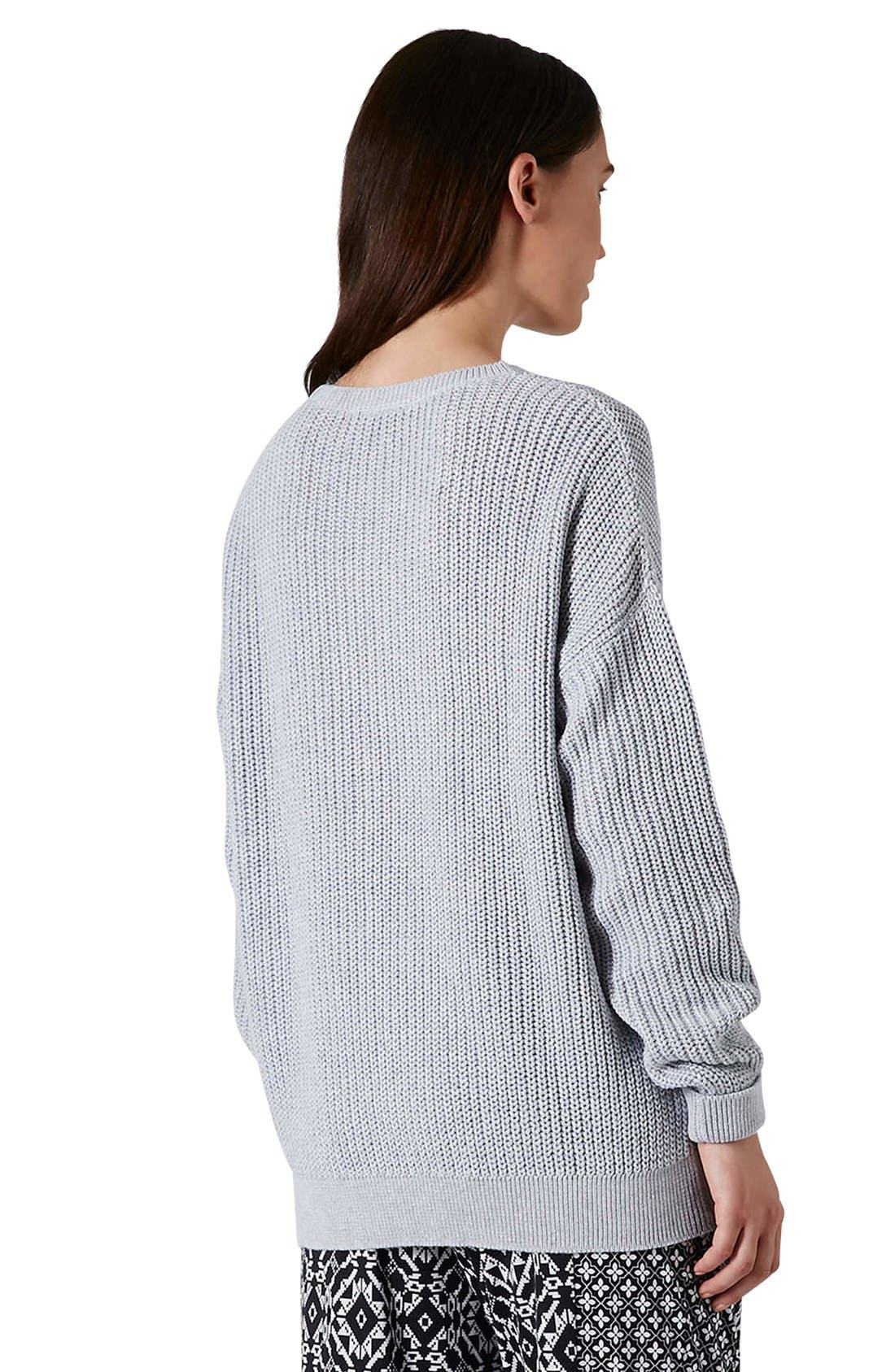 Alternate Image 2  - Topshop Ribbed Cotton Sweater