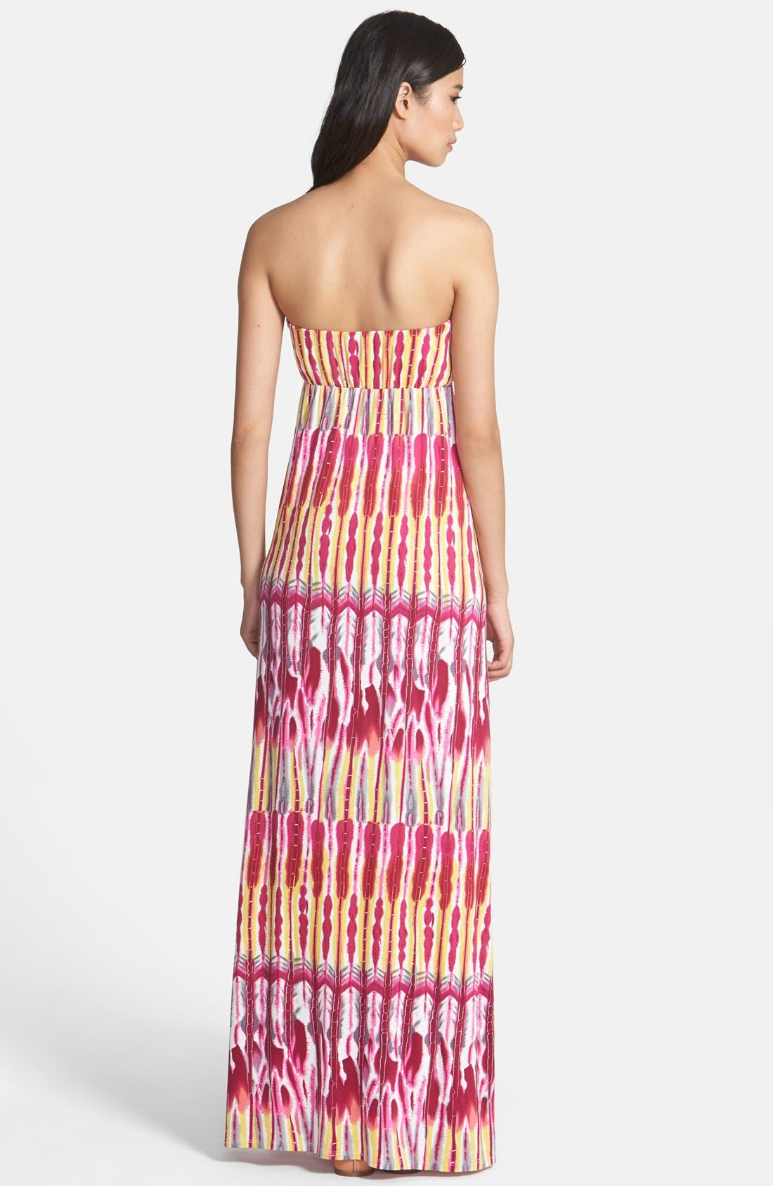 Alternate Image 2  - Felicity & Coco Print Strapless Jersey Maxi Dress (Nordstrom Exclusive)