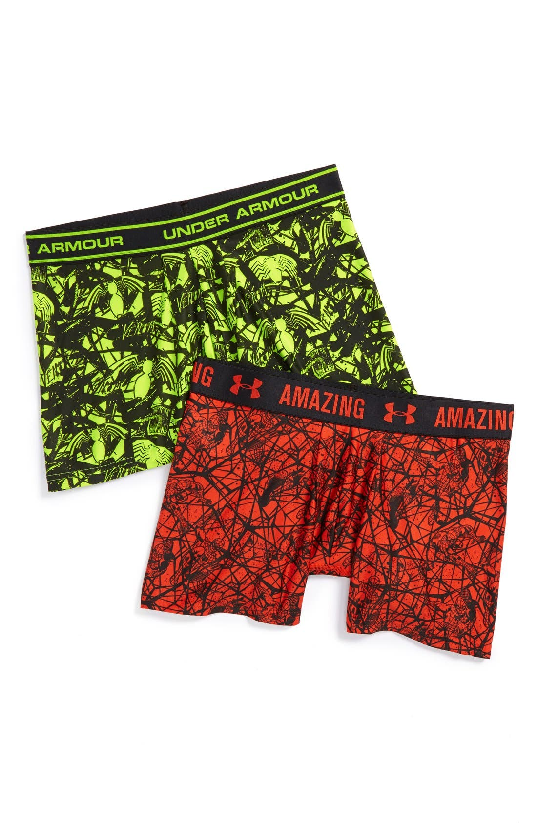 Alternate Image 1 Selected - Under Armour 'Alter Ego - Spiderman®' Boxer Briefs (Big Boys)