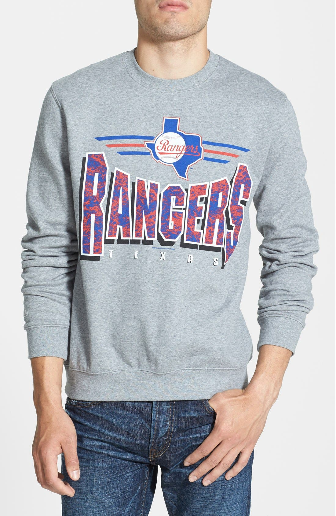 Alternate Image 1 Selected - Mitchell & Ness 'Texas Rangers' Crewneck Sweatshirt