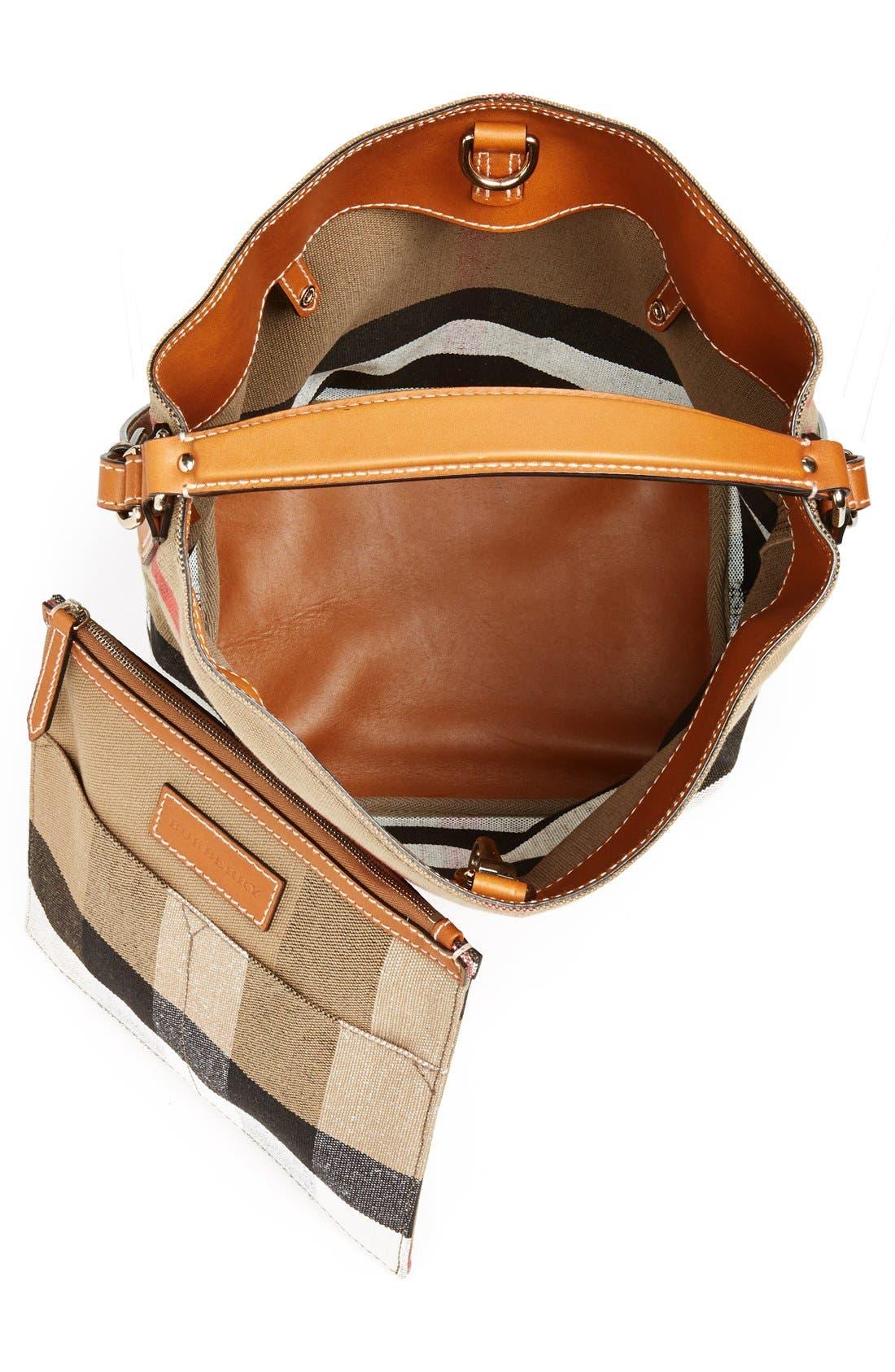 Alternate Image 4  - Burberry Medium Ashby Check Print Bucket Bag